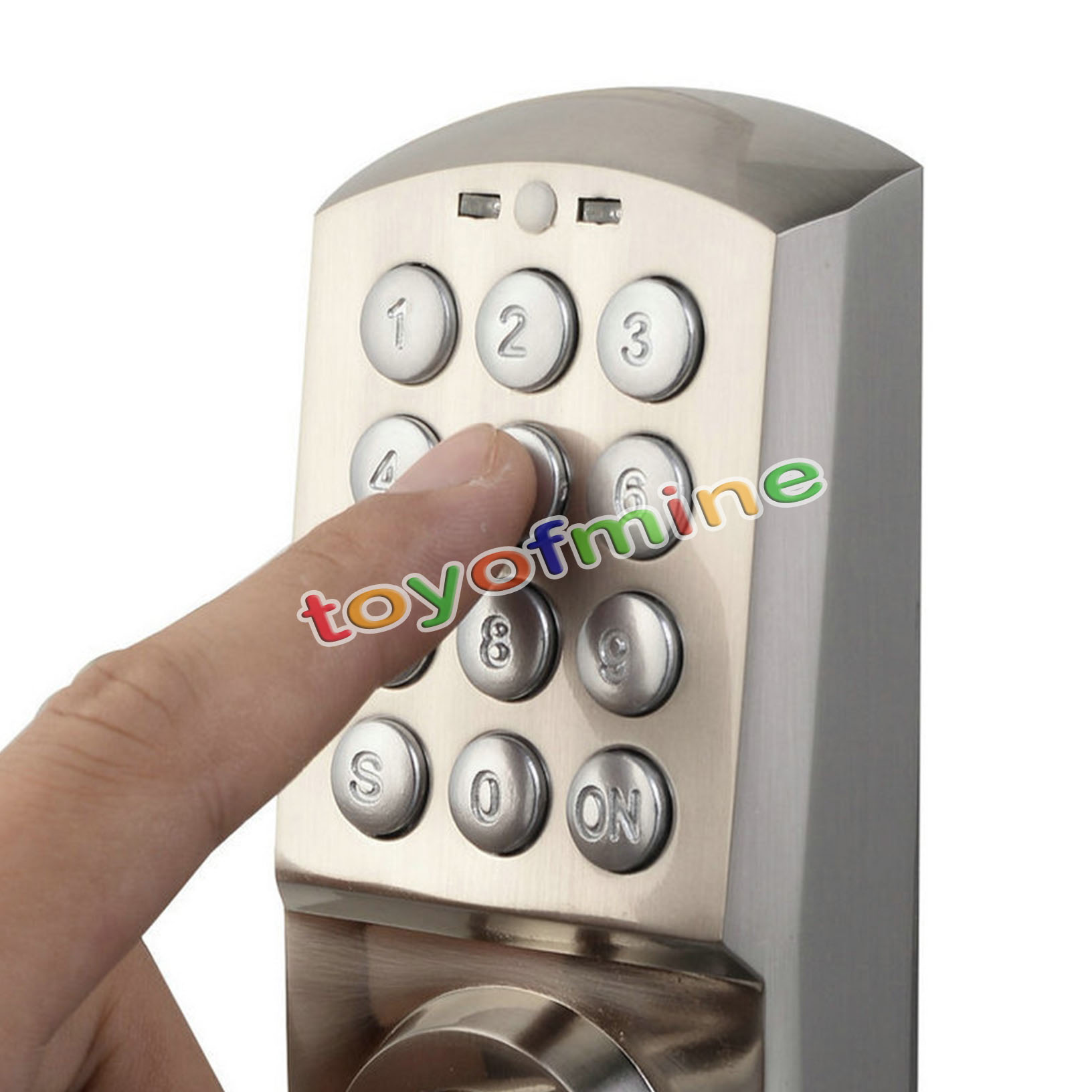 digital electronic code keyless keypad security entry door lock right handle new. Black Bedroom Furniture Sets. Home Design Ideas