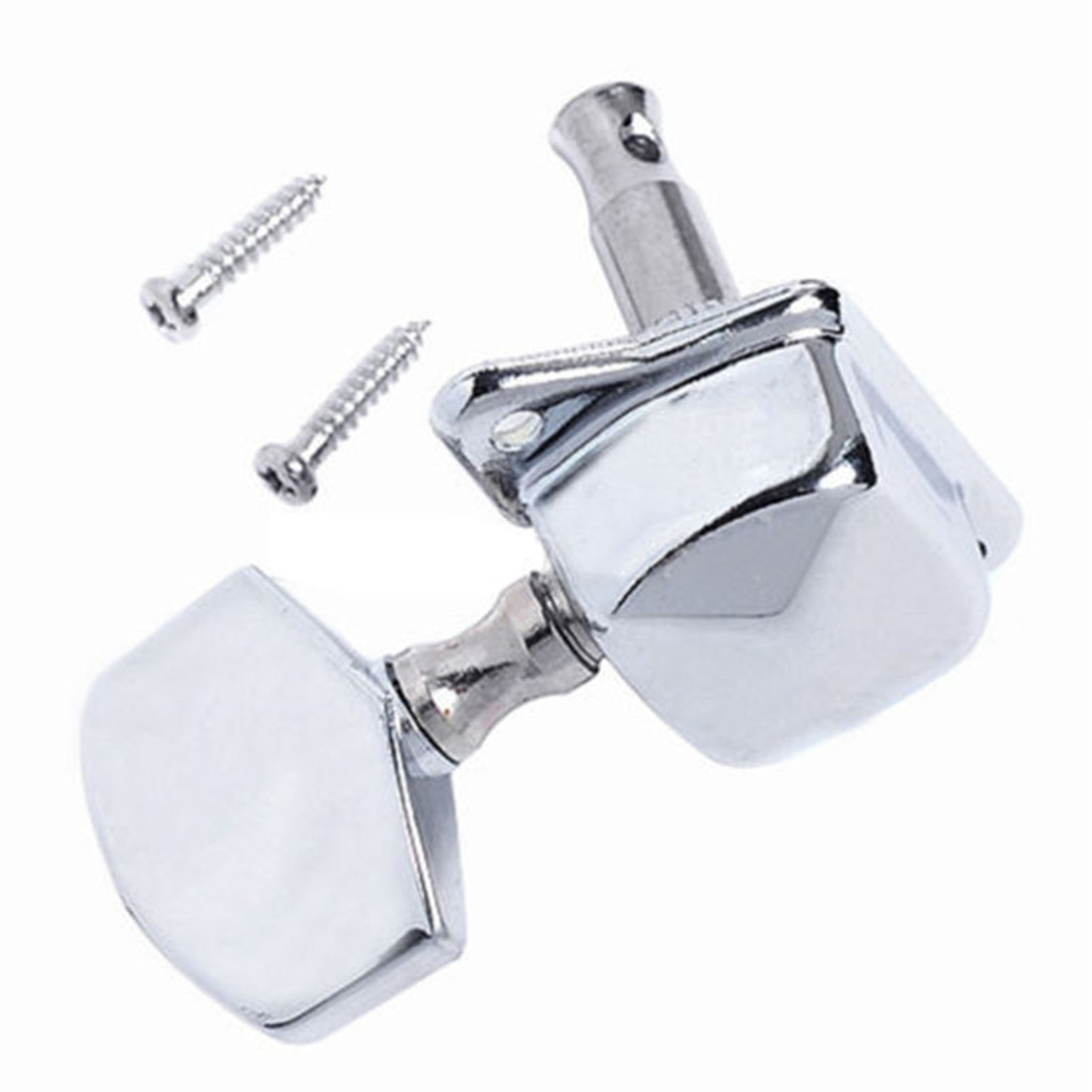 acoustic guitar string semiclosed tuning pegs tuners machine heads 3x3 chrome 634458500265 ebay. Black Bedroom Furniture Sets. Home Design Ideas