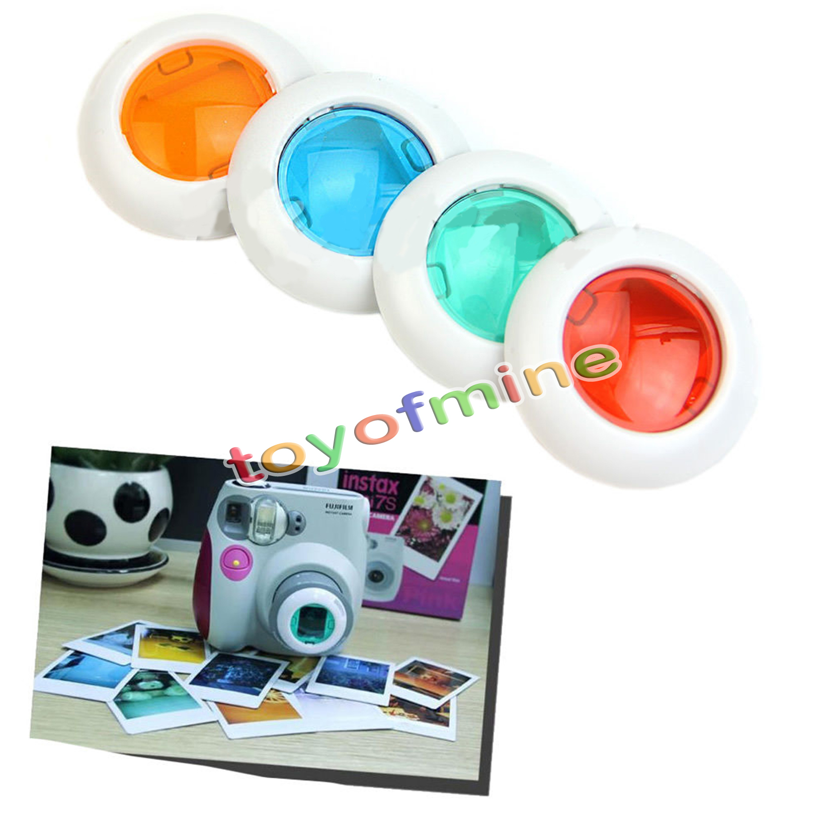 r59a fuji fujifilm instax mini 8 7s polaroid300 four colour filter close up lens ebay. Black Bedroom Furniture Sets. Home Design Ideas