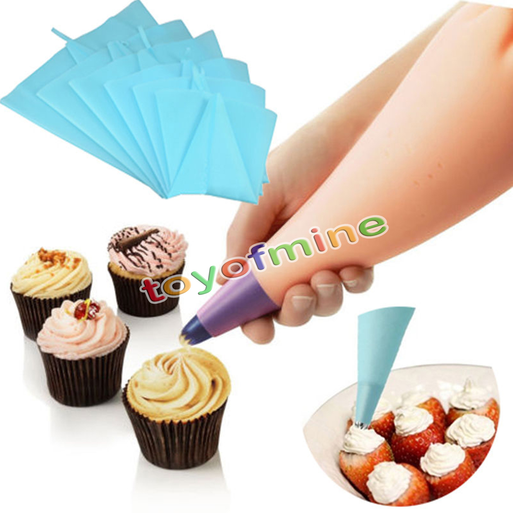 3 Sizes Pastry Bag Cake Decorating Reusable Piping Cream ...