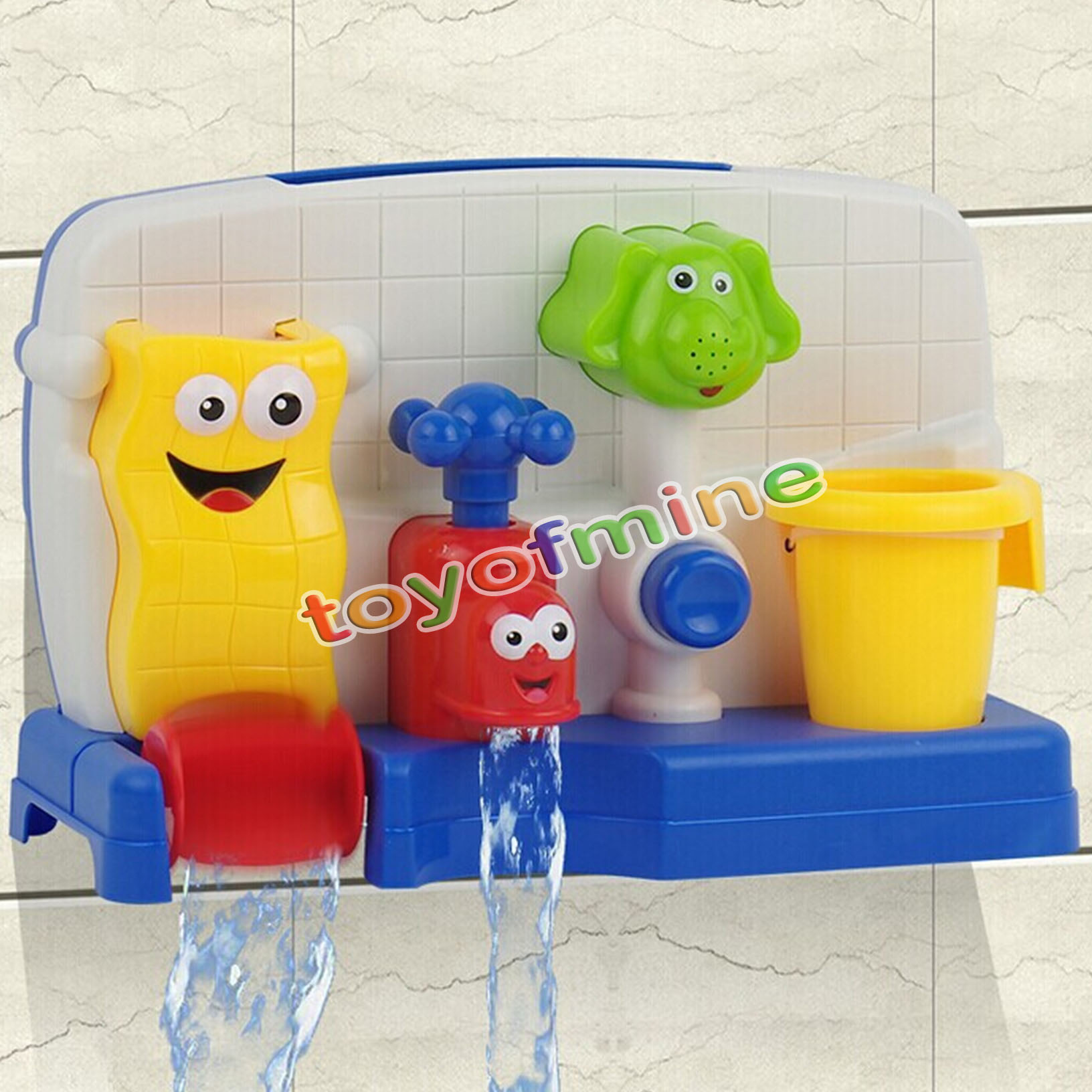 children bathing watertruck faucet spout cover baby tub water toddler bath toys ebay. Black Bedroom Furniture Sets. Home Design Ideas