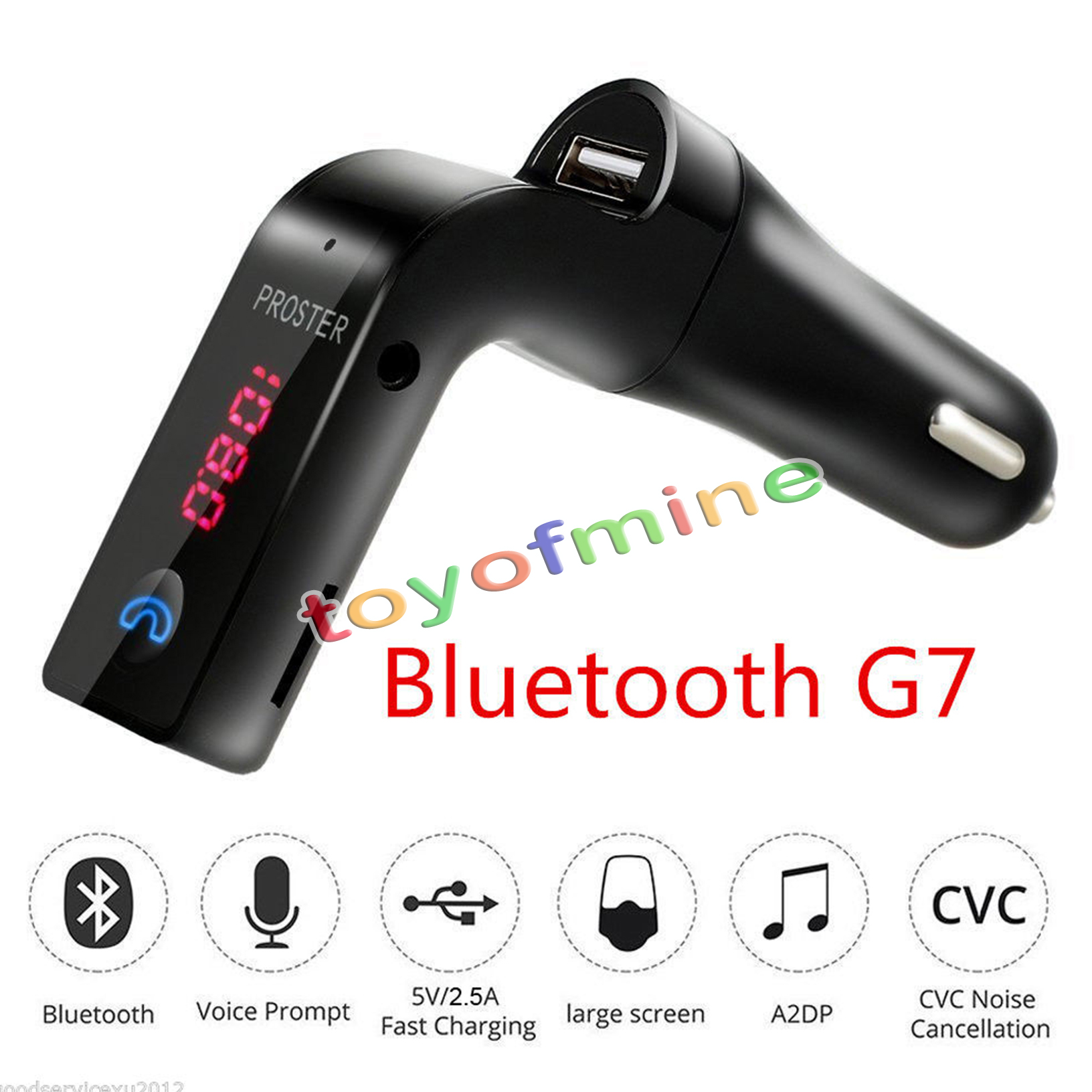 g7 bluetooth car handsfree fm transmitter radio mp3 player. Black Bedroom Furniture Sets. Home Design Ideas
