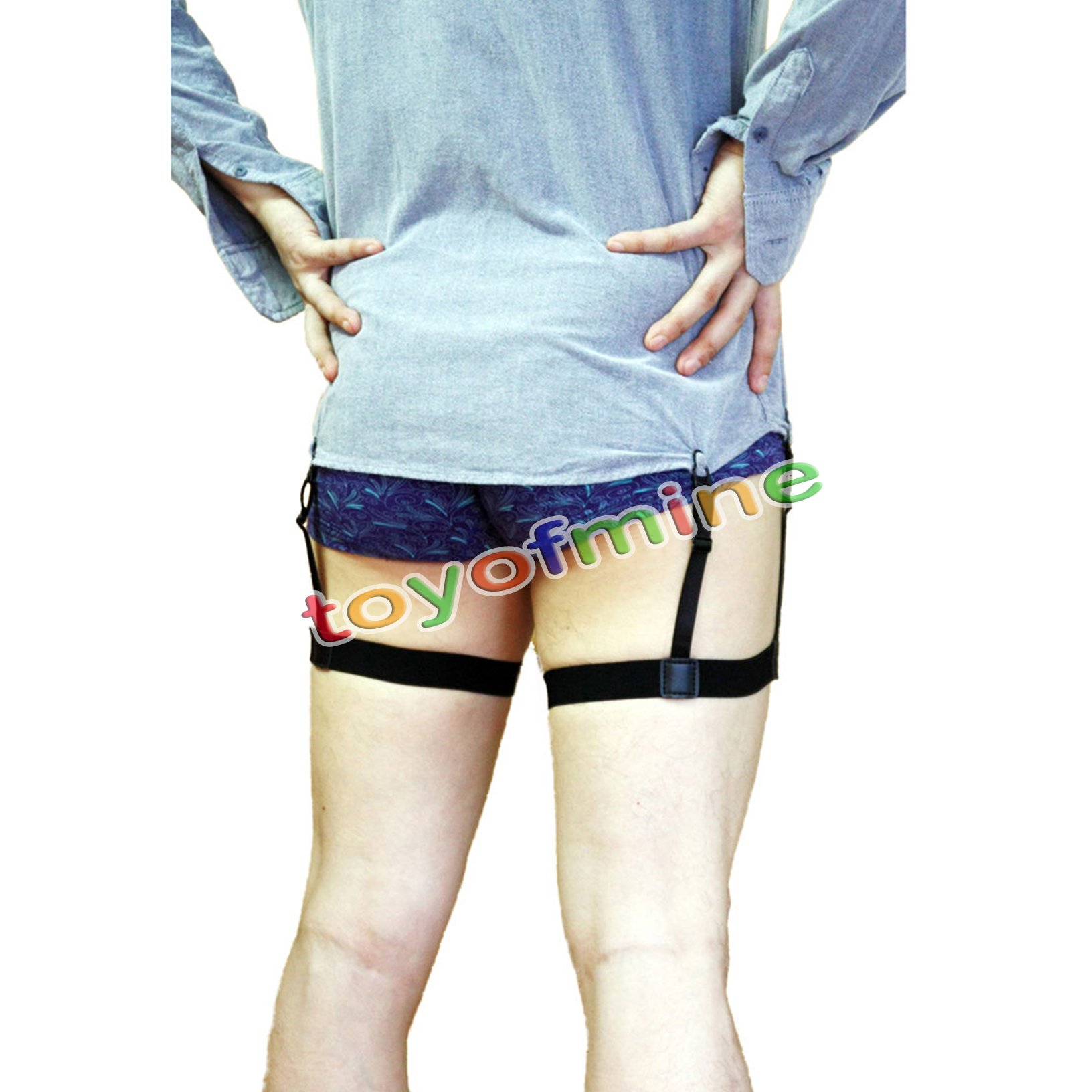 Pair Men 39 S Shirt Stays Holders Elastic Garter With Non