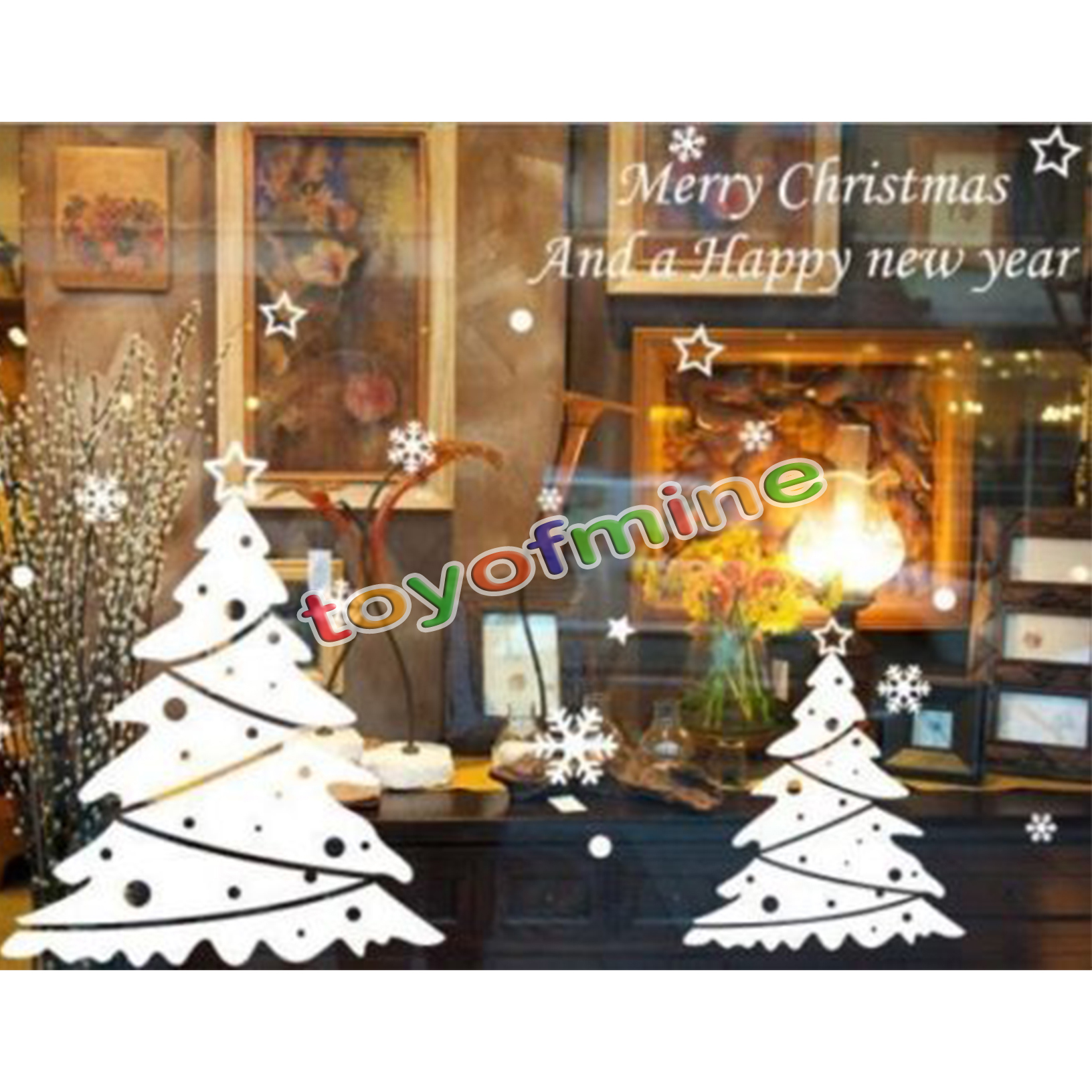 Wall Decor Home Party : Merry christmas wall art removable home window