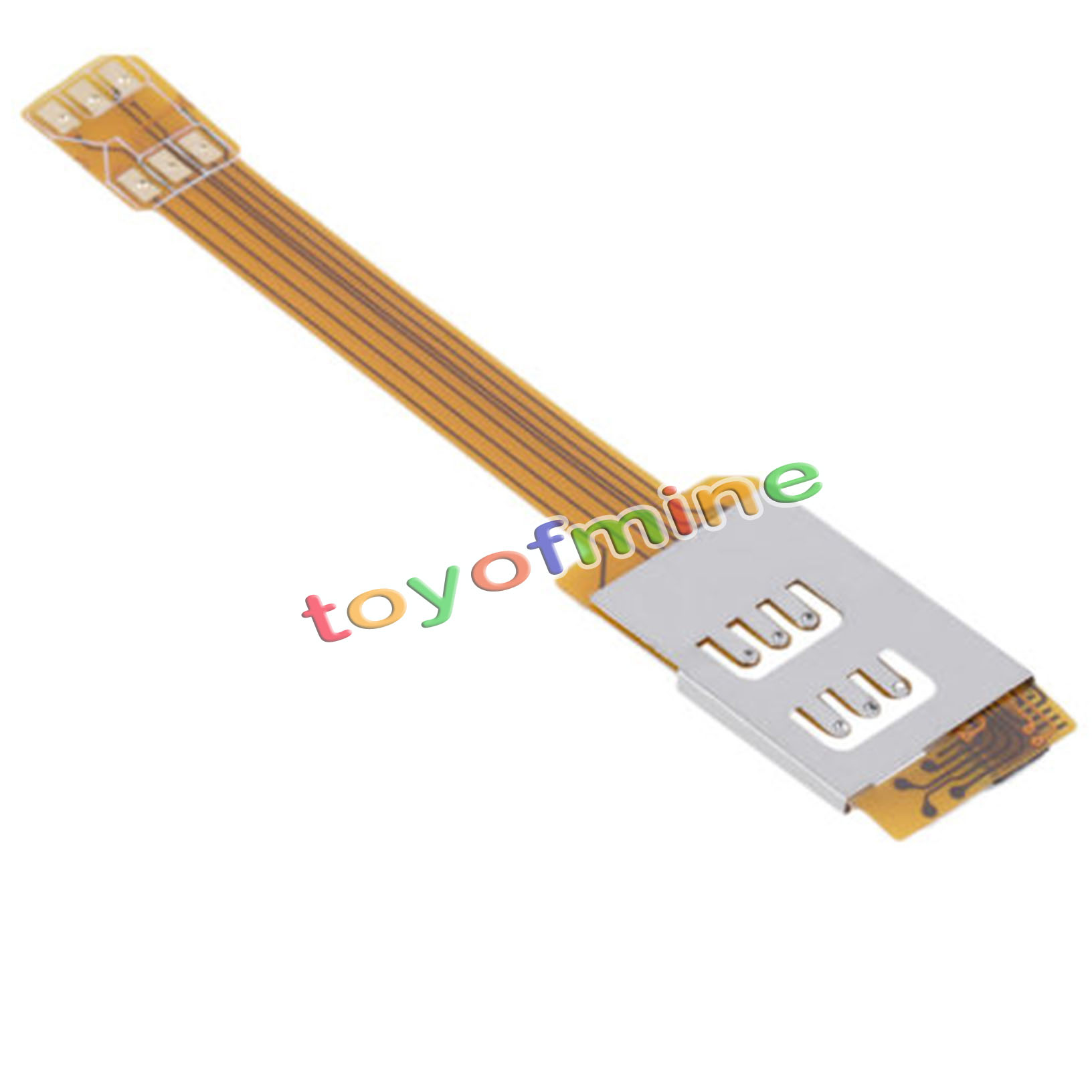 dual sim card adapter single standby flex cable ribbon for. Black Bedroom Furniture Sets. Home Design Ideas