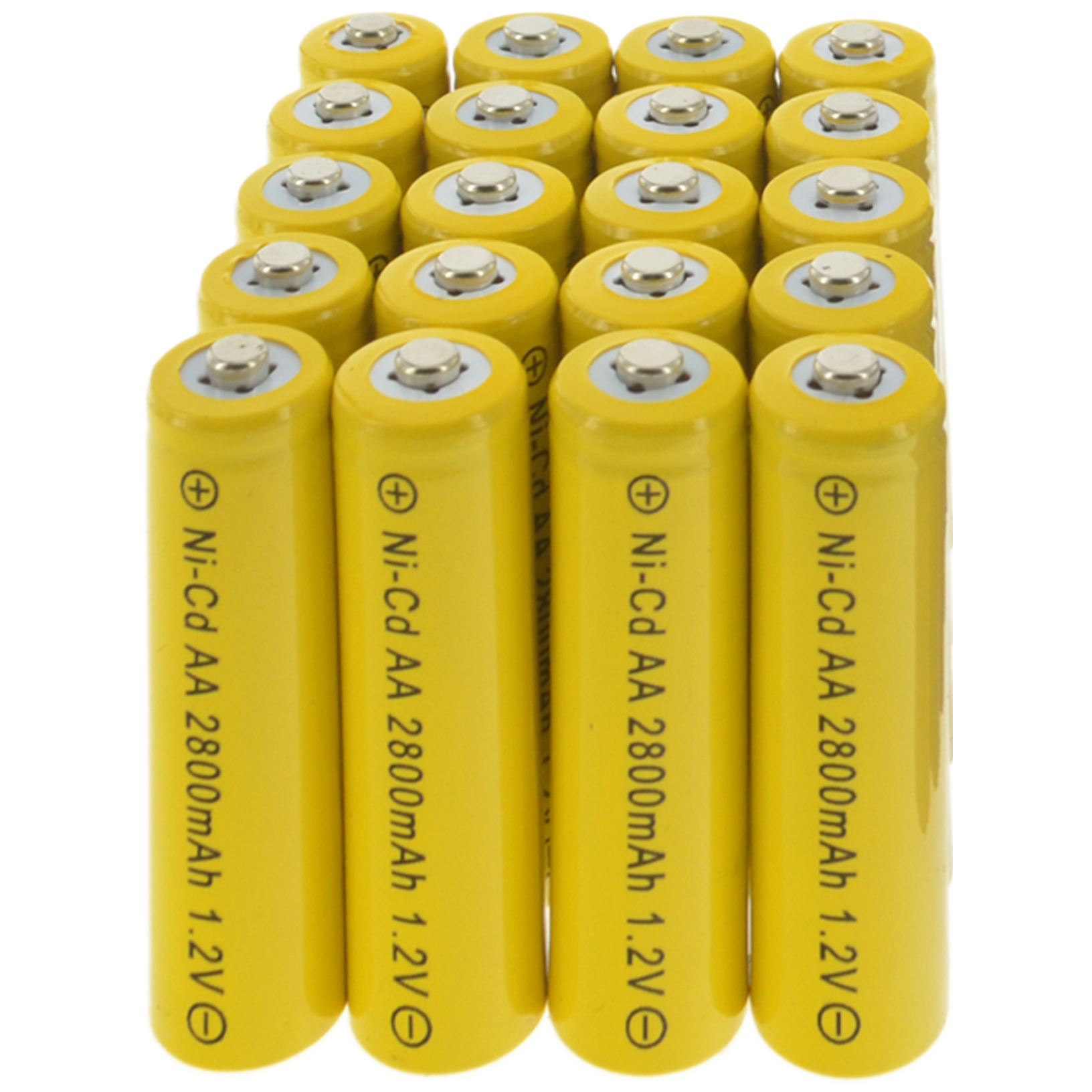 20x Aa Rechargeable Batteries Nicd 2800mah 12v Garden Solar Ni Cd Batre Cas Energizer Recharge Maxi A2 Does Not Apply