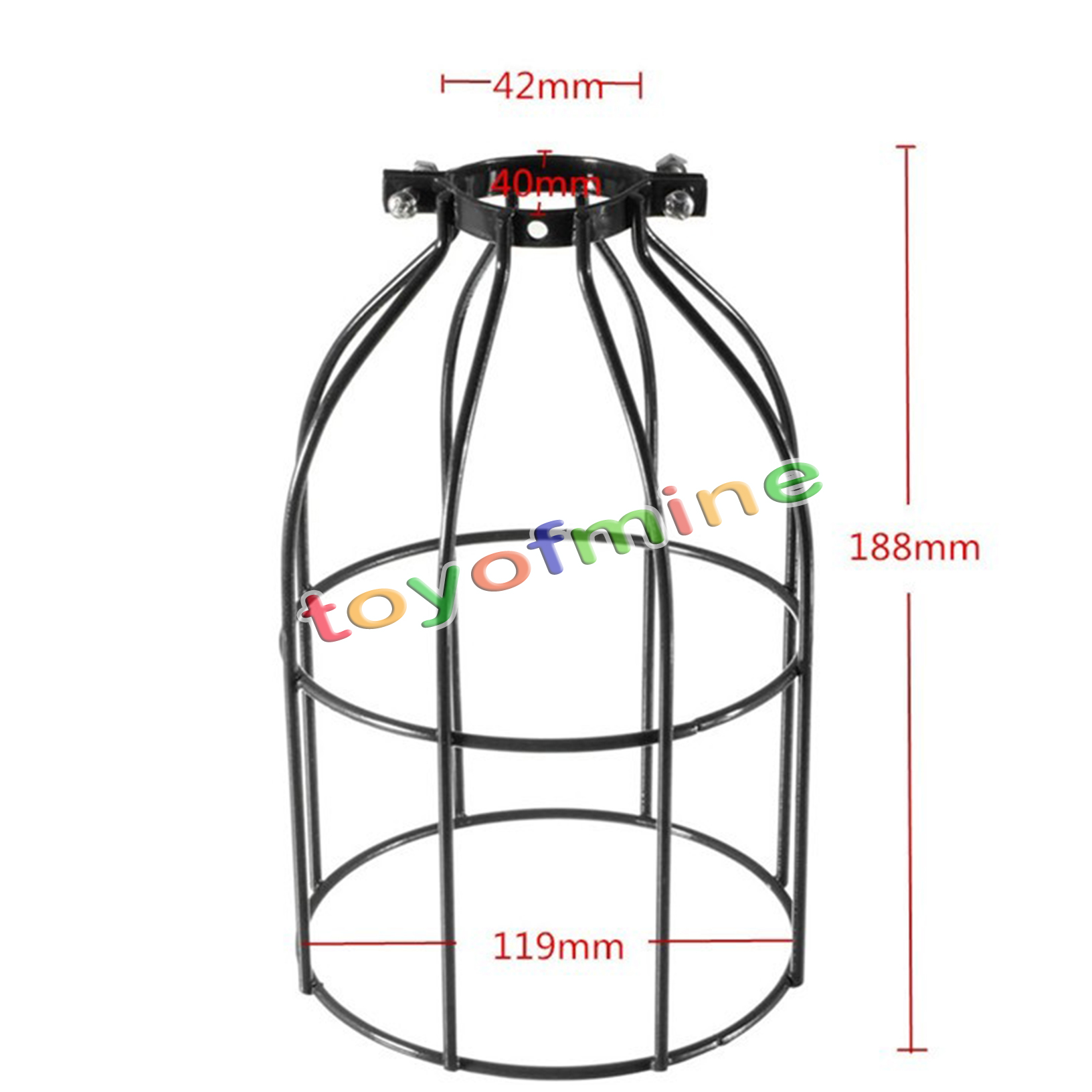 vintage industrial pendant light lamp guard wire squirrel bulb cage iron black