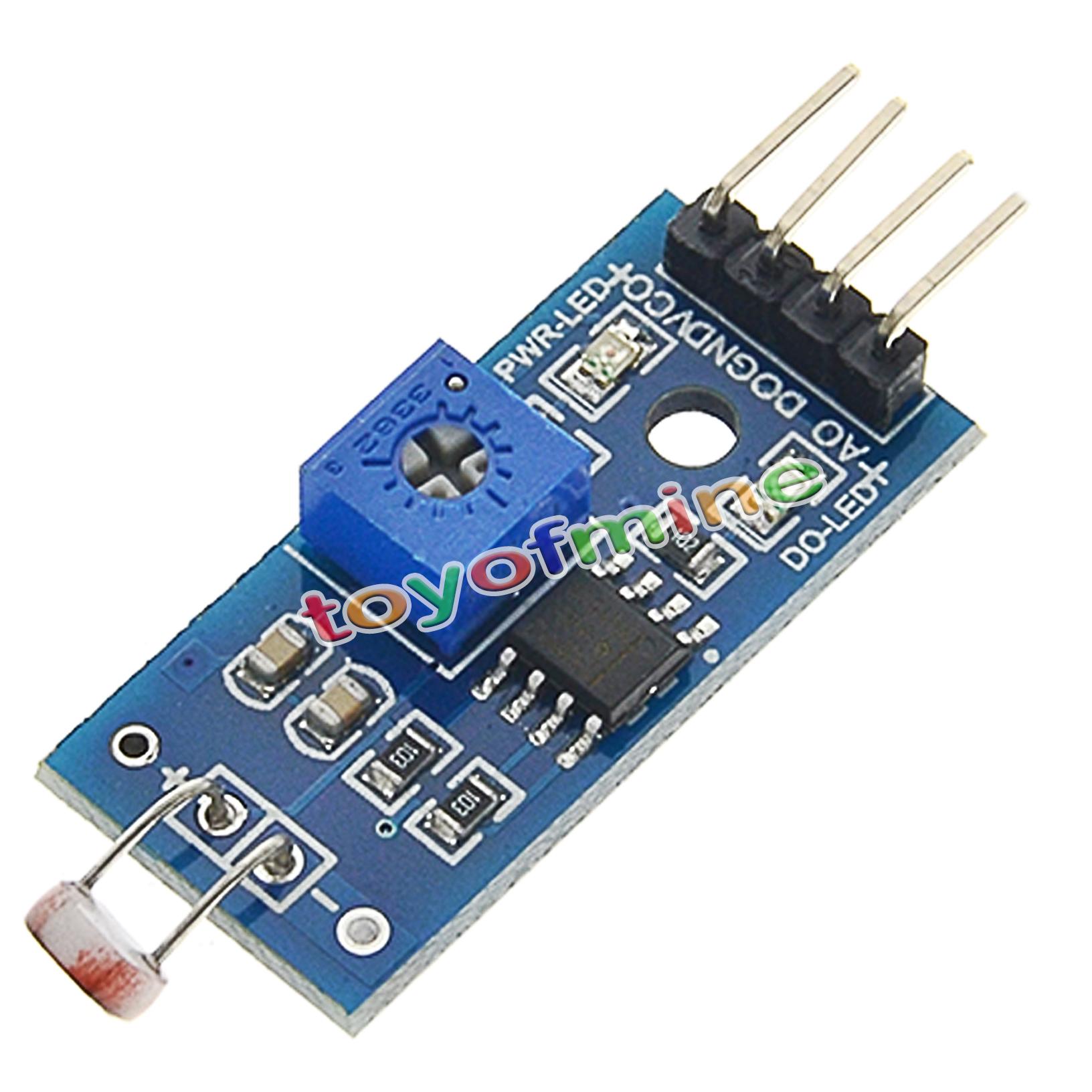 Digital light intensity sensor module photo resistor for