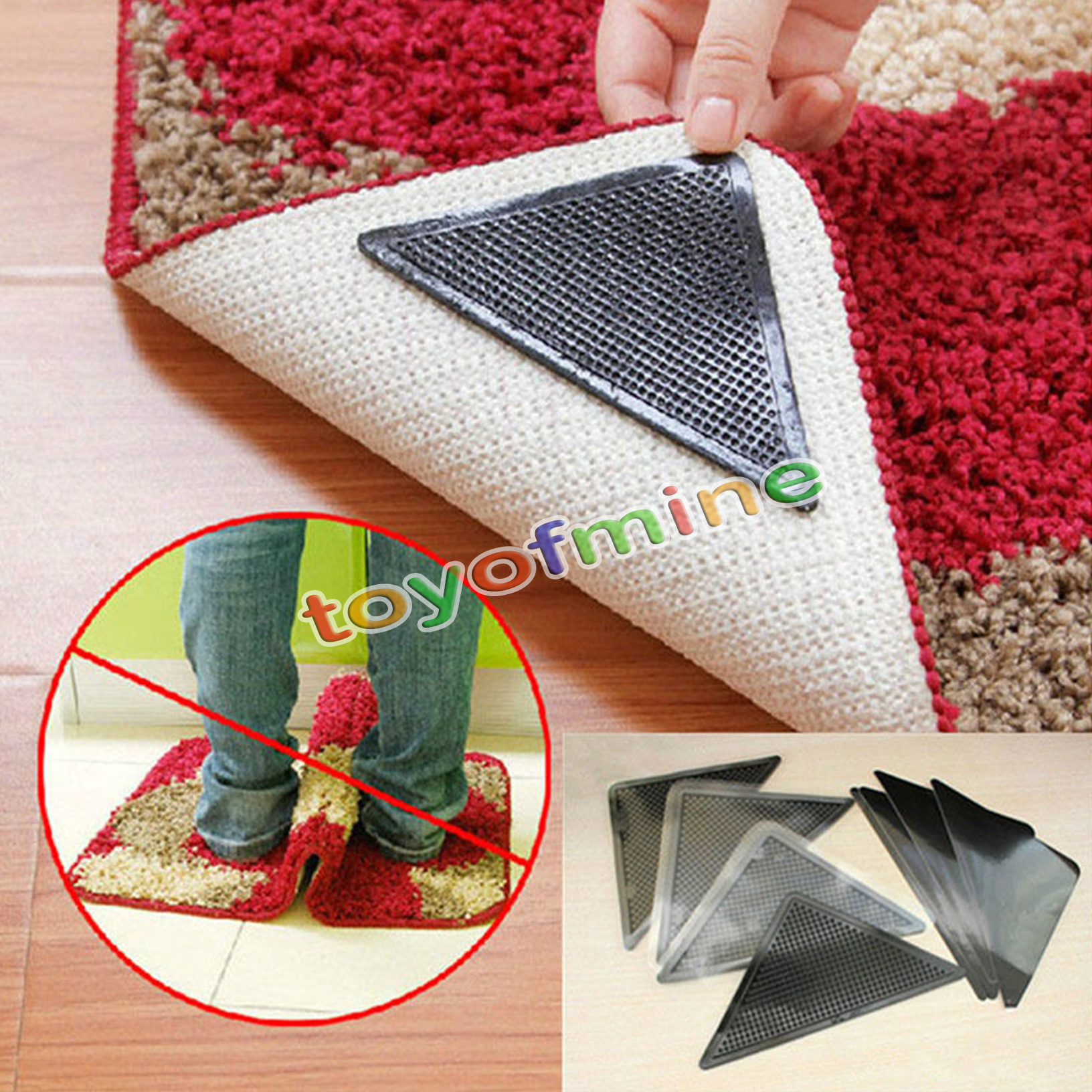 Ruggies Rug Carpet Mat Grippers Non Slip Grip Corners Anti