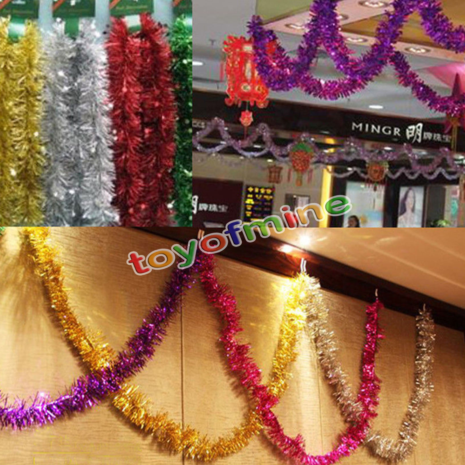 M christmas xmas tree hanging decoration tinsel garland