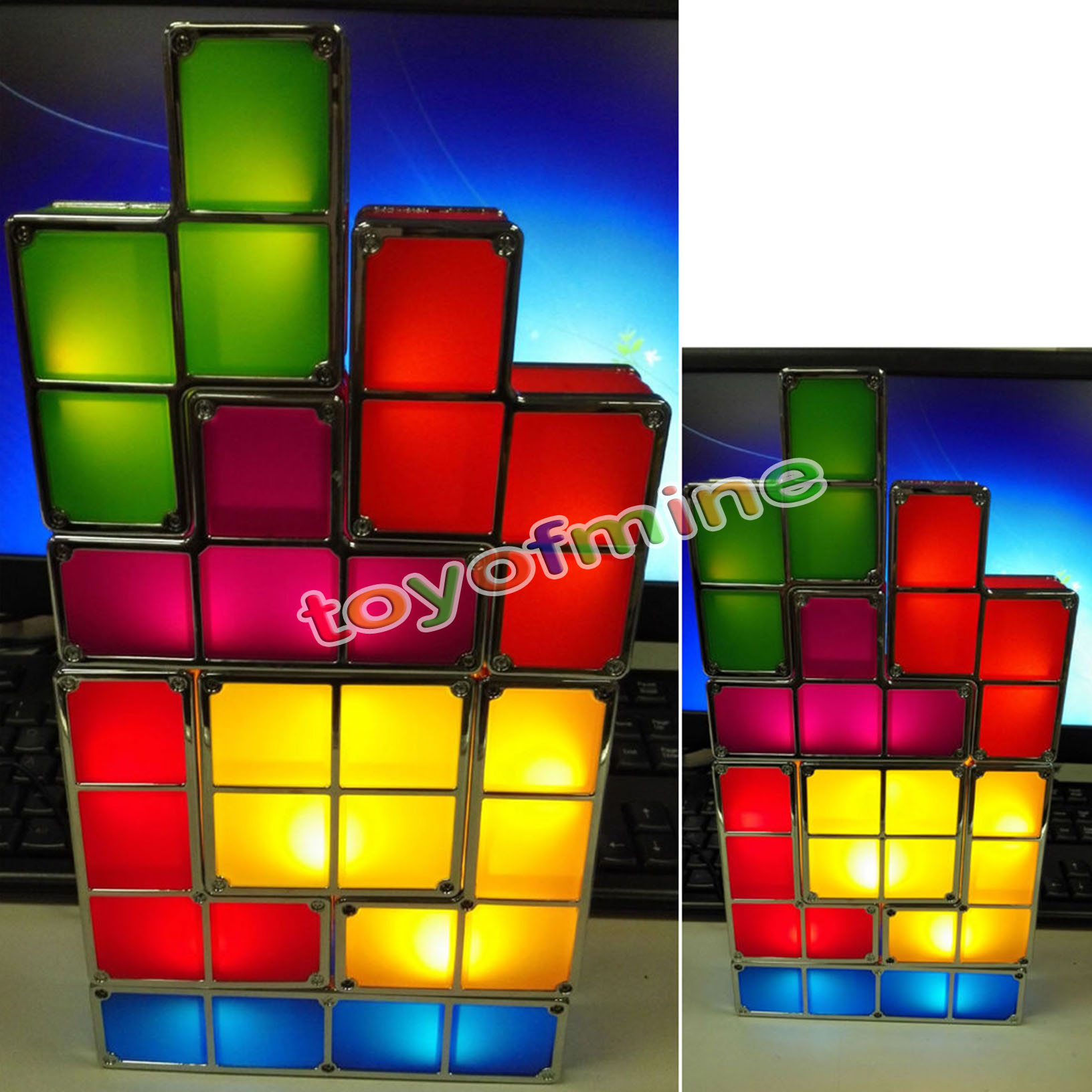 Novelty Lamp Crossword : Novelty DIY Retro Game Style Puzzle Desk Lamp LED Tetris Constructible Light eBay