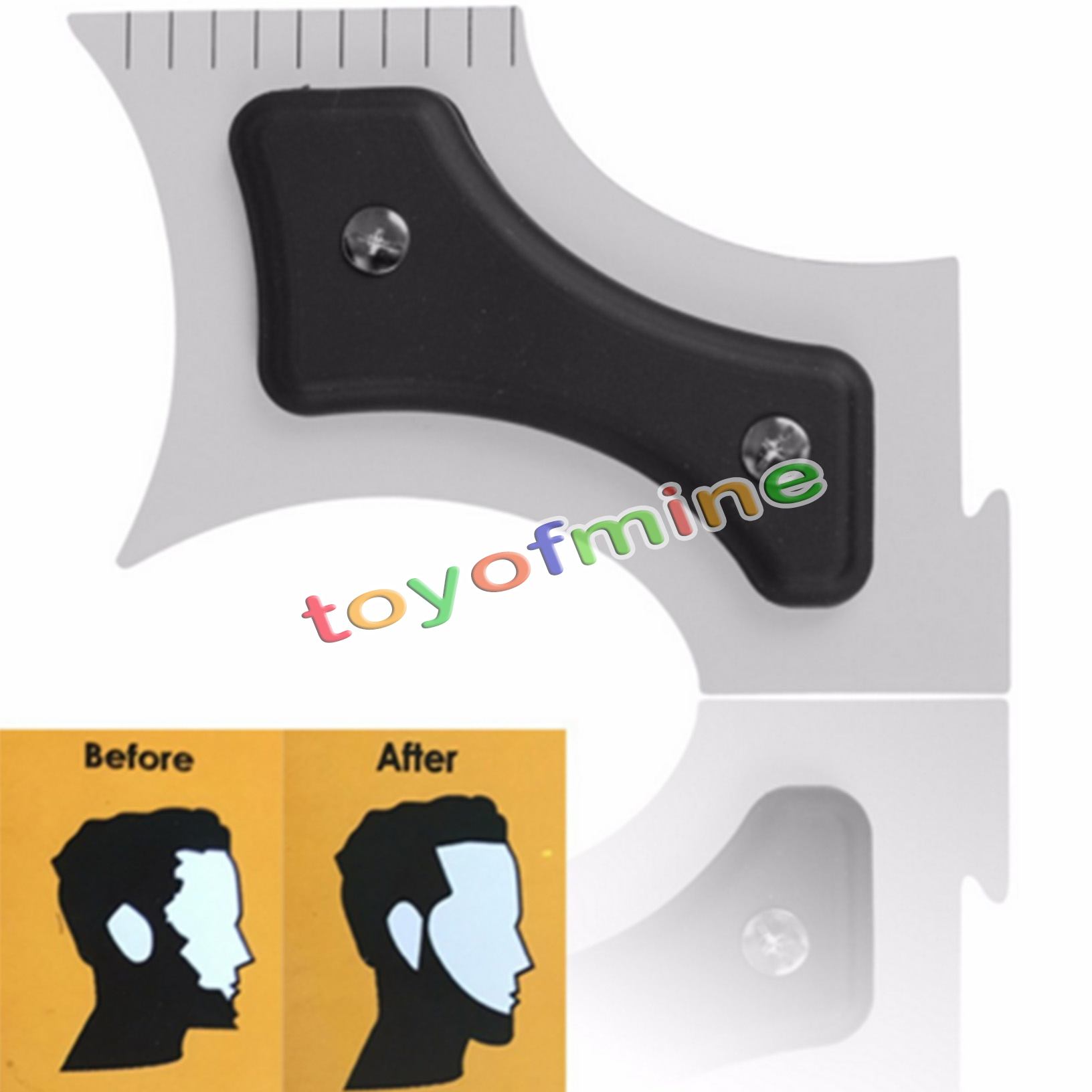 hairline beard trimmer shaping edging guide tool hair mustache cut template ebay. Black Bedroom Furniture Sets. Home Design Ideas