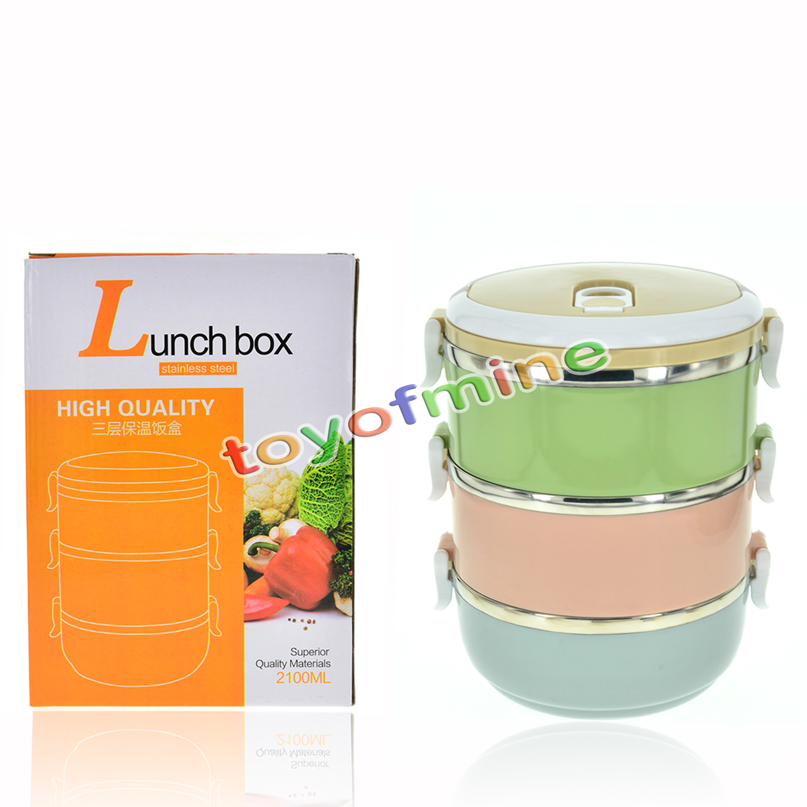 portable stainless steel thermos lunch box thermal insulated food container box ebay. Black Bedroom Furniture Sets. Home Design Ideas