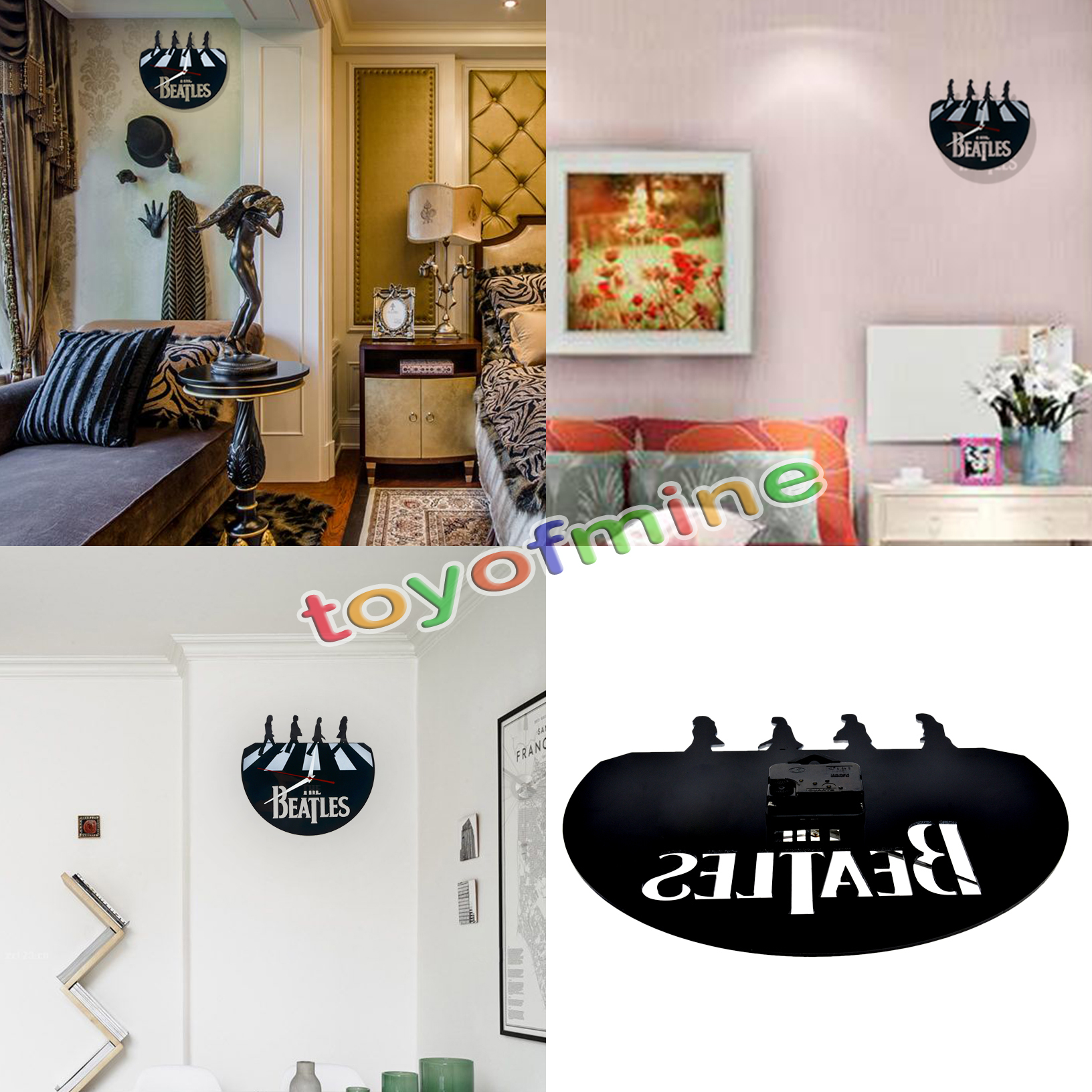 The beatles home decor watch vinyl wall art clock family for Handmade decorative items for bedroom