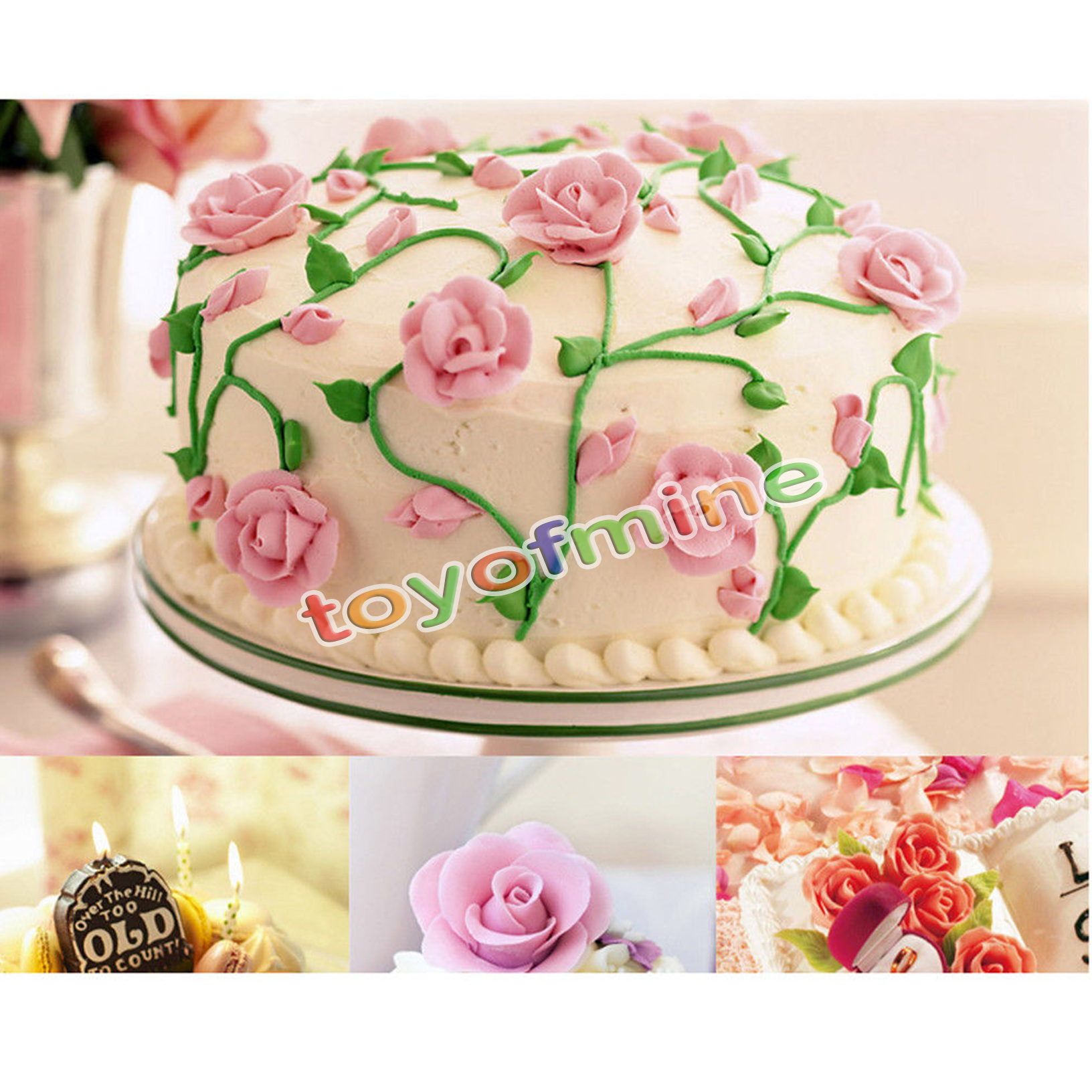 Cake Decorating Nails : 5pc Piping Flower Nail Icing Cream Bake Cake Decorating ...