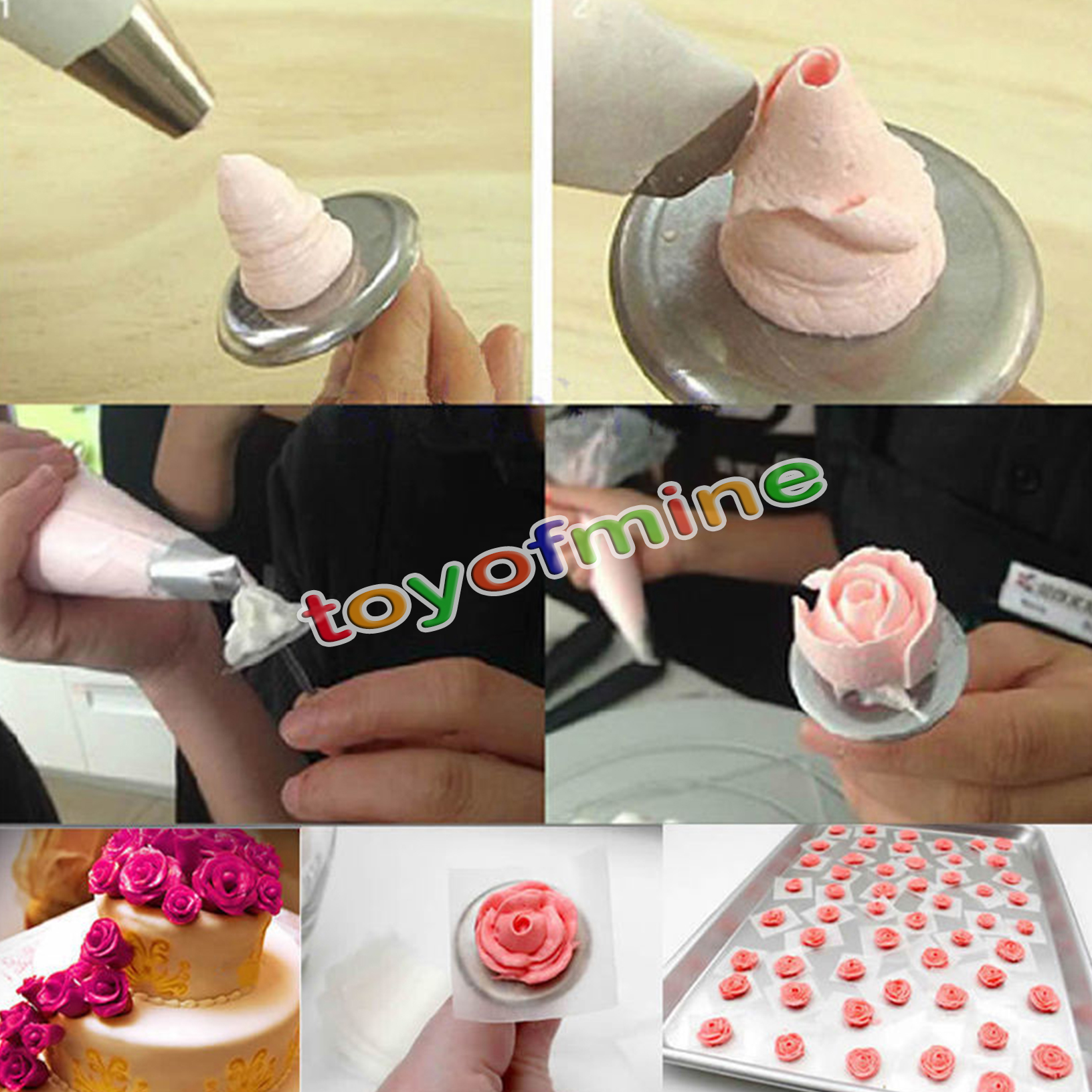 5pc Piping Flower Nail Icing Cream Bake Cake Decorating ...