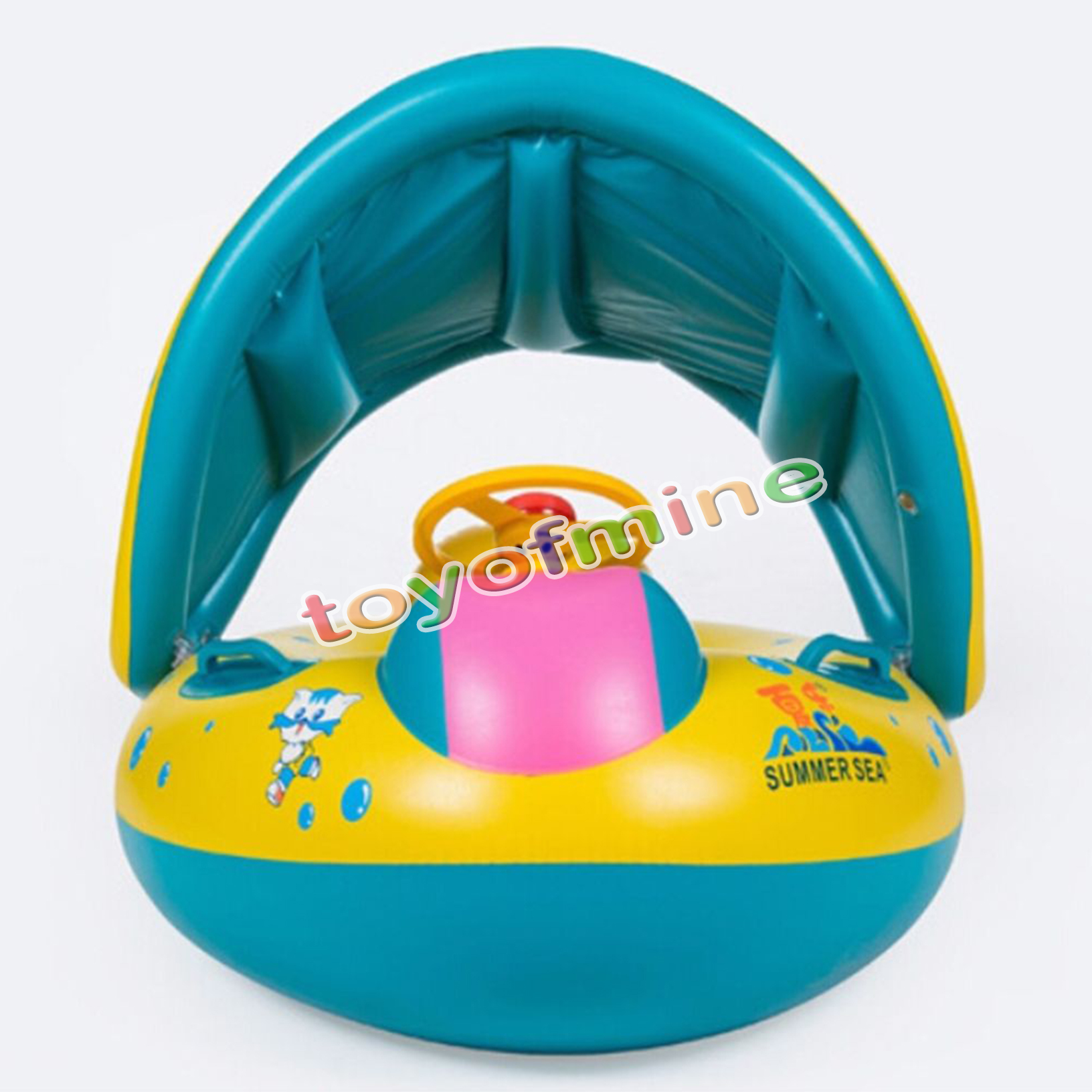inflatable sunshade baby infant kids swimming pool float ring seat bath swim ebay. Black Bedroom Furniture Sets. Home Design Ideas