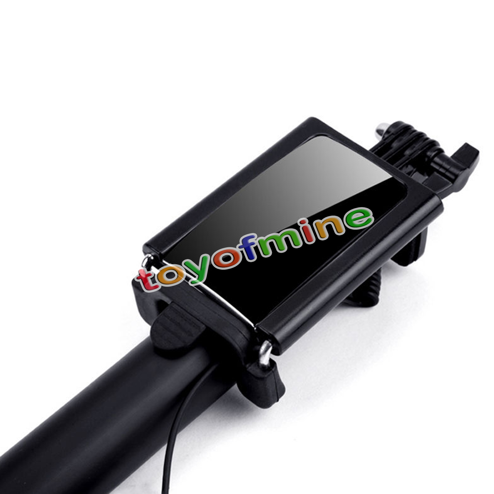 mirror extendable handheld wired monopod selfie stick for samsung iphone ios. Black Bedroom Furniture Sets. Home Design Ideas