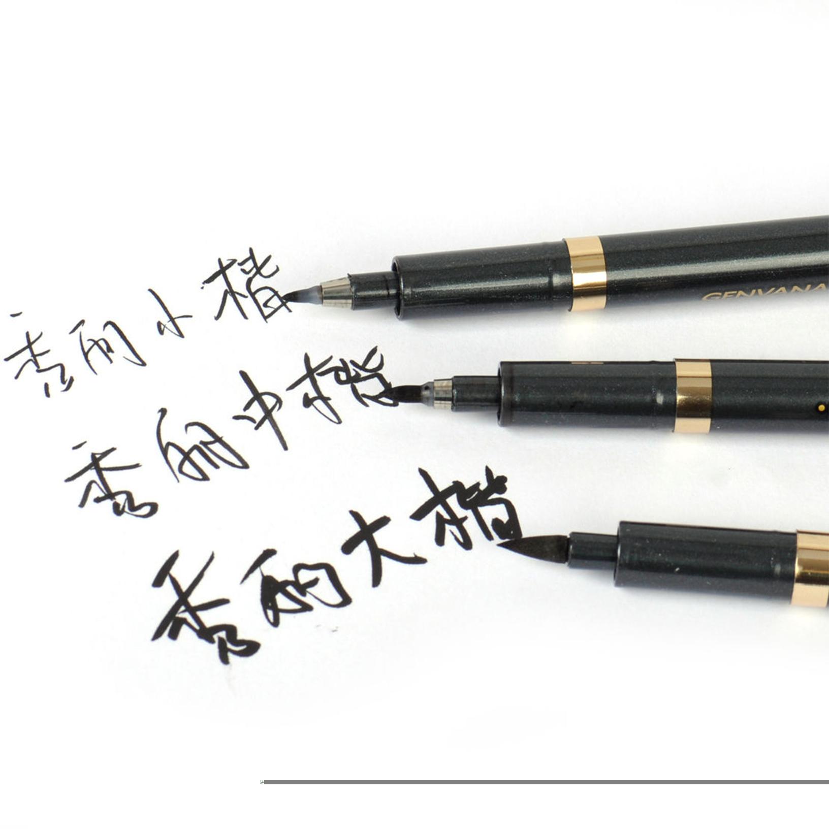 Pcs set chinese japanese calligraphy writing brush pen