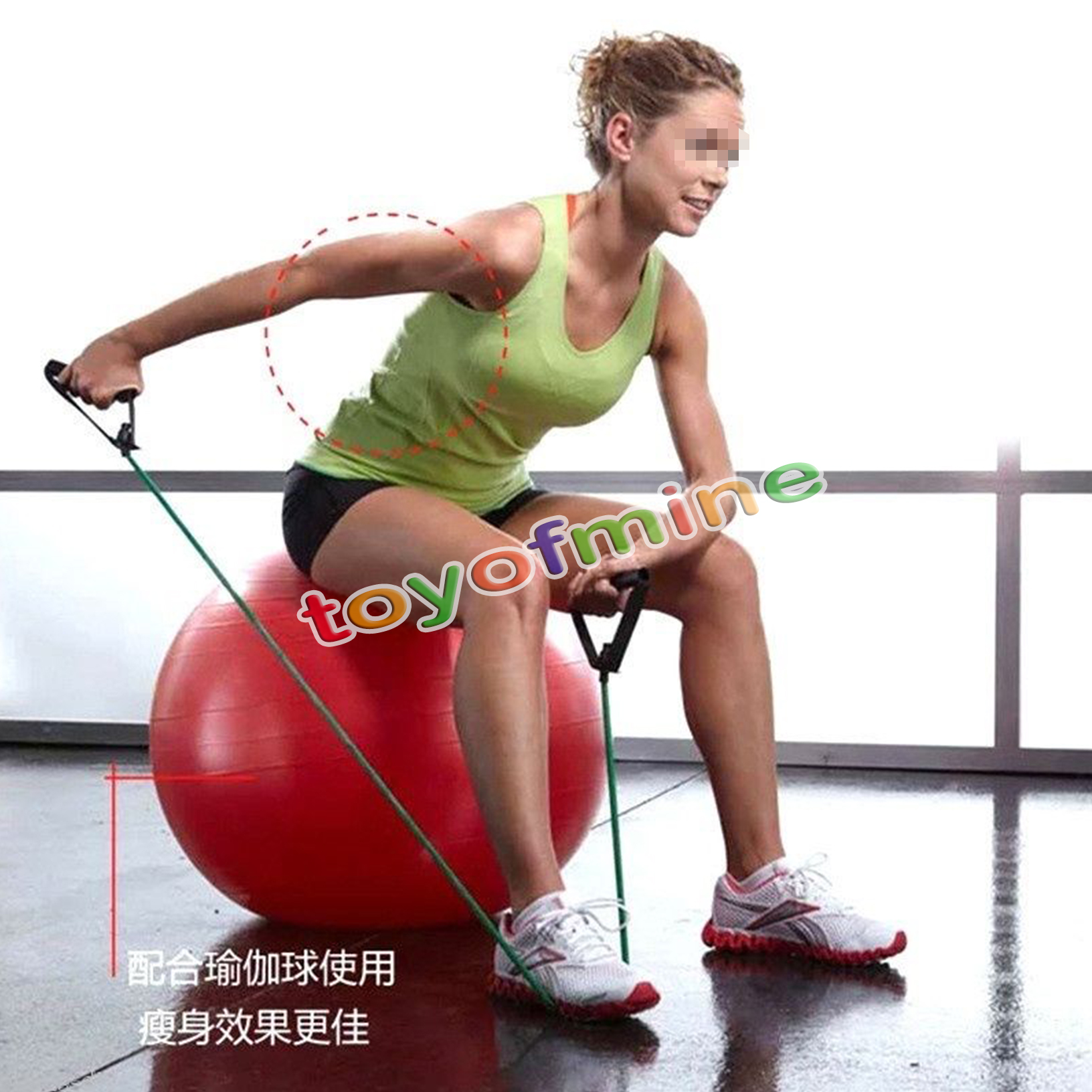 Resistance Bands Workout On: Exercise Latex Resistance Bands Pilates Tube Workout Gym
