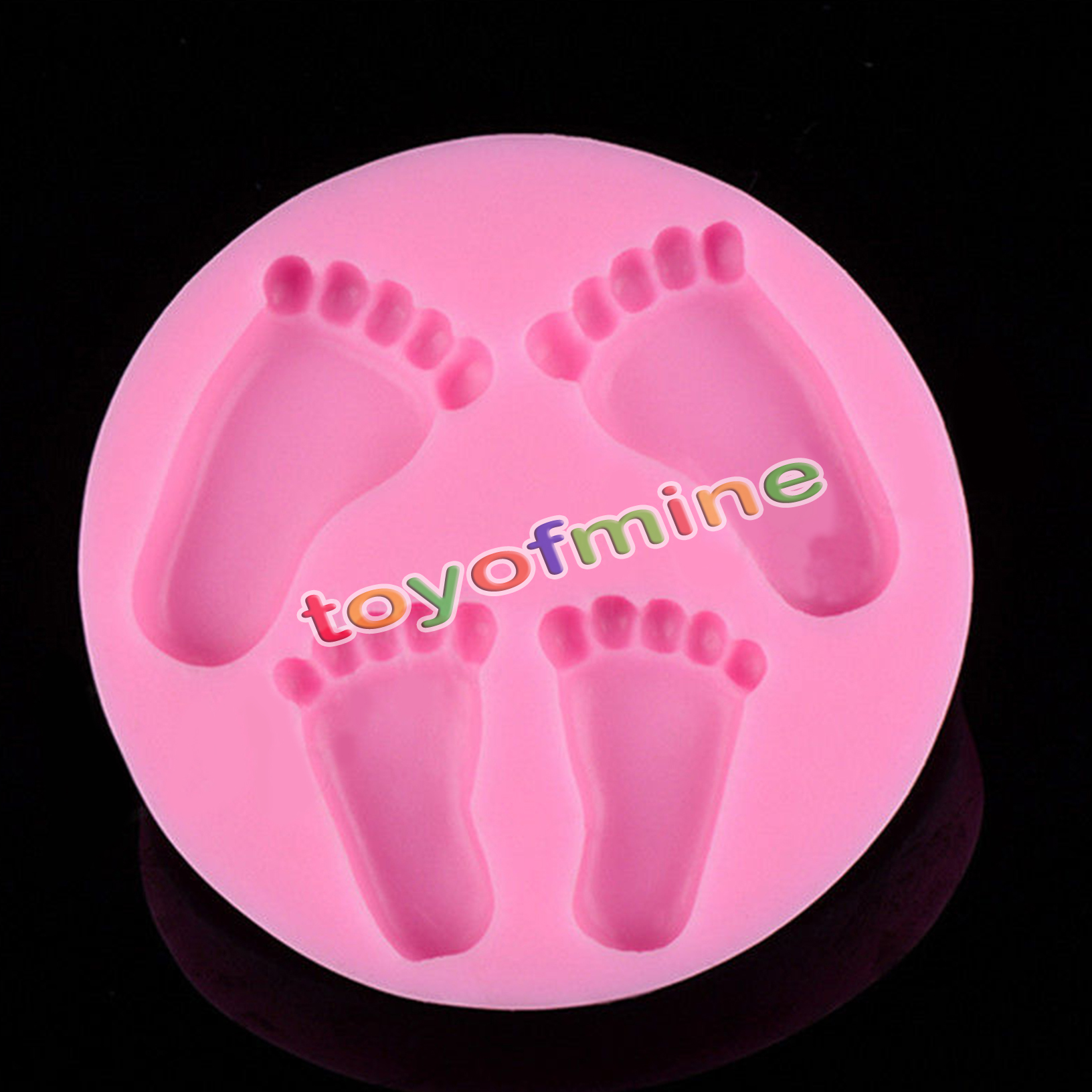 3D Baby Feet Silicone Fondant Mould Chocolate Cake ...