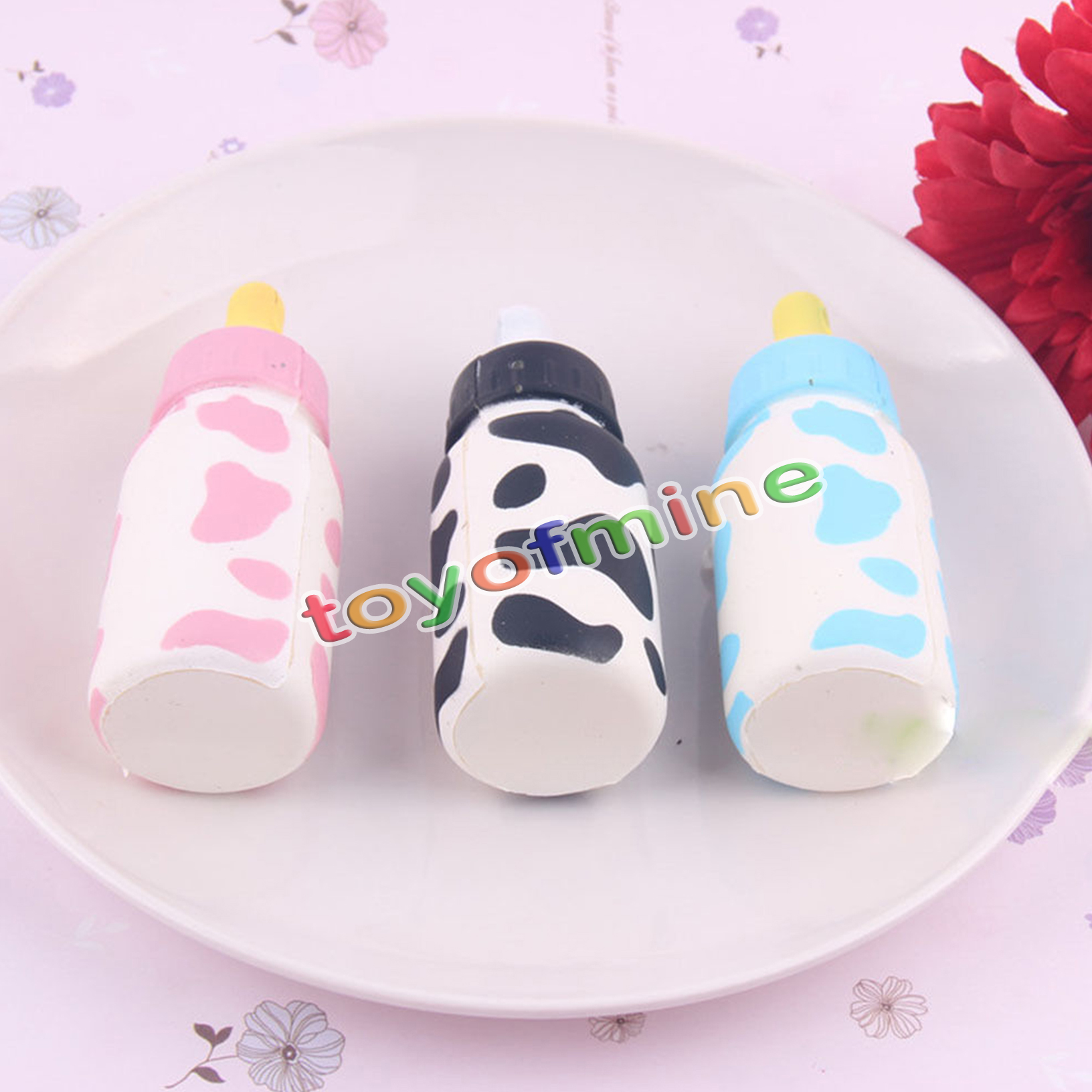 Squishy Baby Bottles : Jumbo Slow Rising Baby Feeding Bottle Soft Squishy Phone Charms Kids Fun eBay