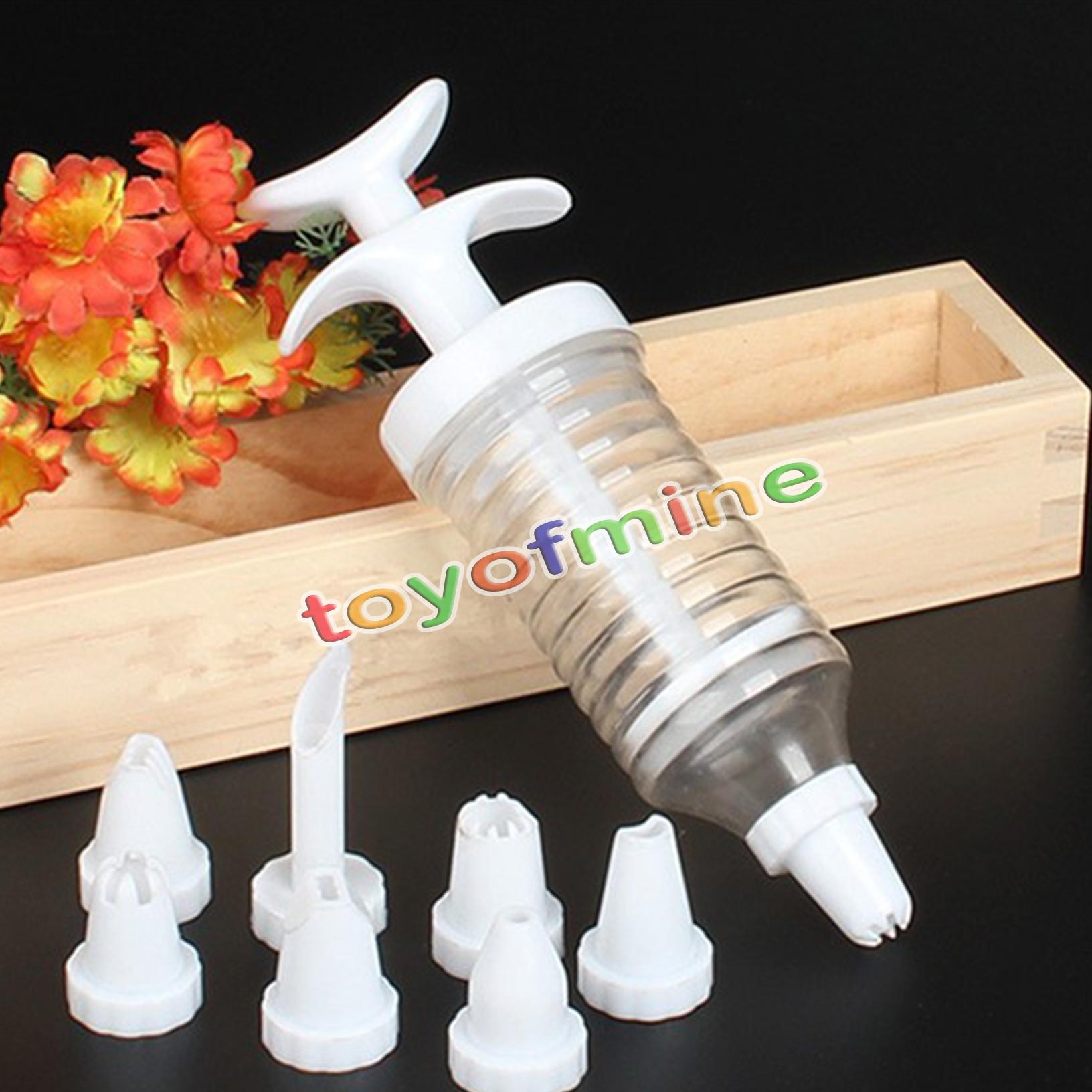 Cake Decorating Kit with 8 Tips Nozzles Icing Syringe Piping Sets Bakeware Tools eBay