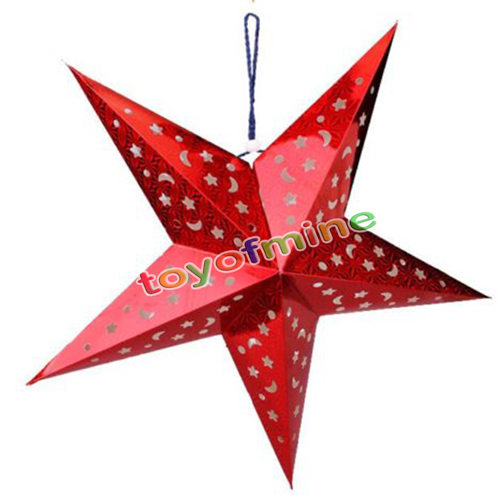 3d 30cm hanging star decoration christmas tree holiday decor for 3d star christmas decoration
