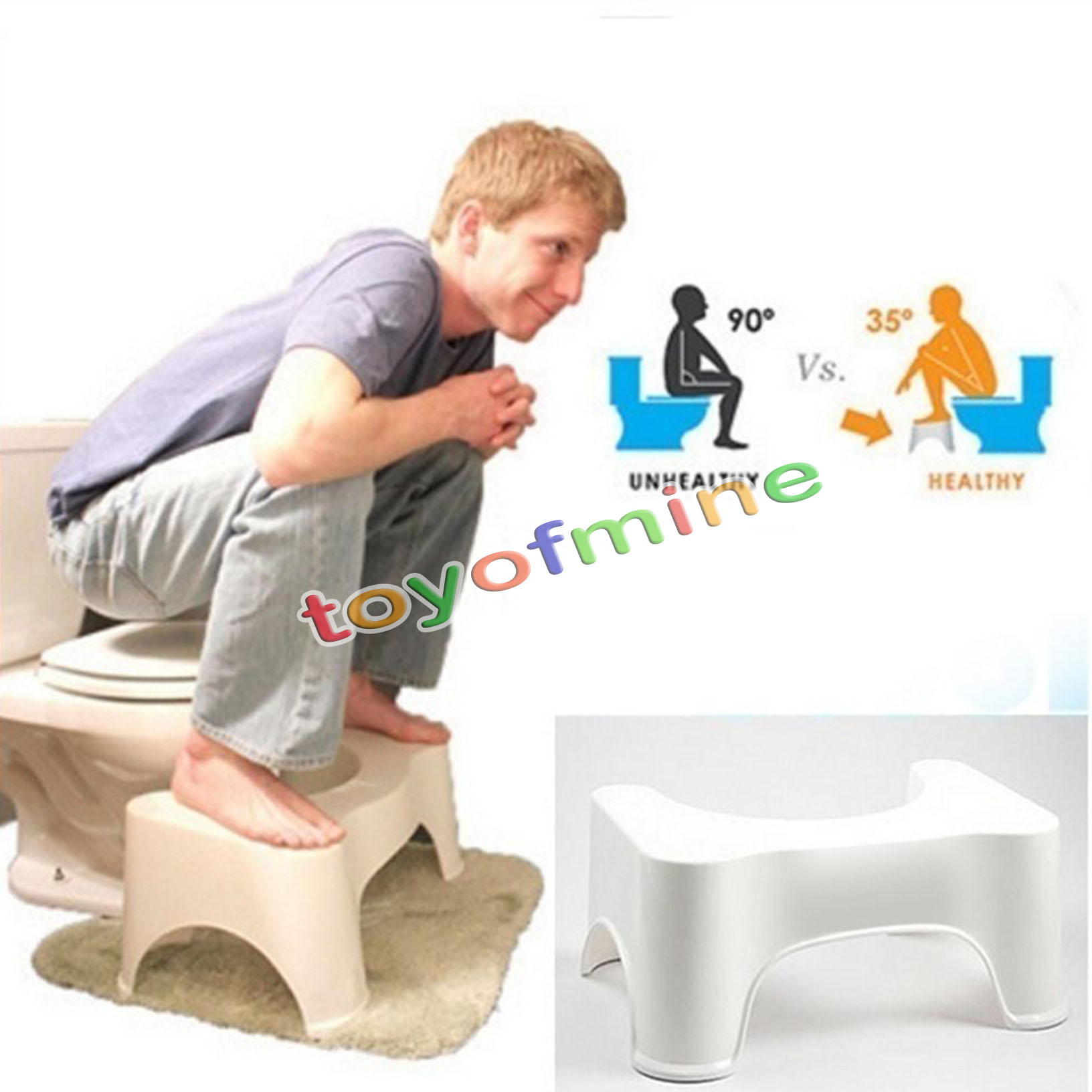 Oz 8 5 Sit Squat Squatty Potty Eco Toilet Stool Healthy Colon Constipation Ebay