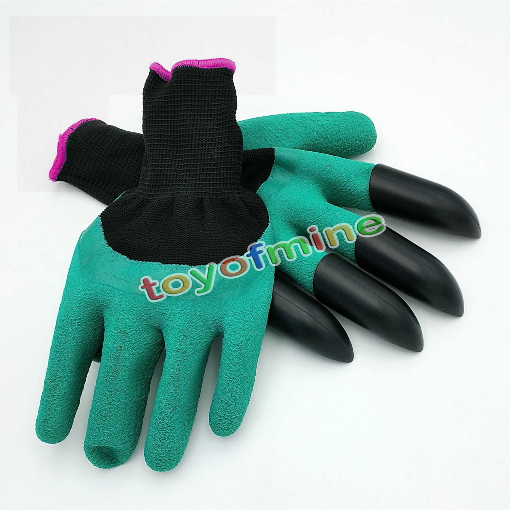 Gardening Gloves Garden Gloves For Digging Planting With 4 Abs Plastic Claws Ebay