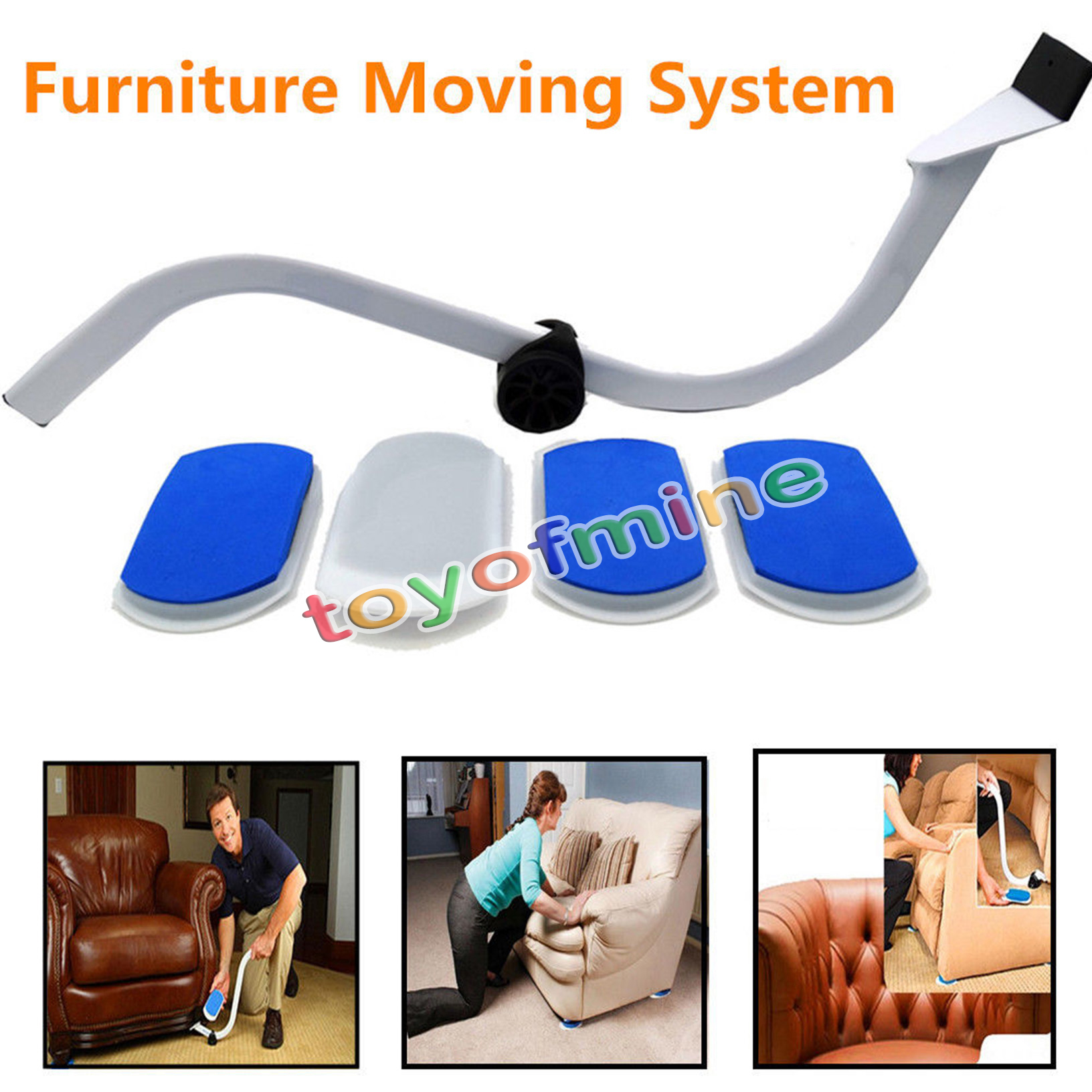 Heavy furniture moving system lifter tool with 4 slide - Easy to move couch ...
