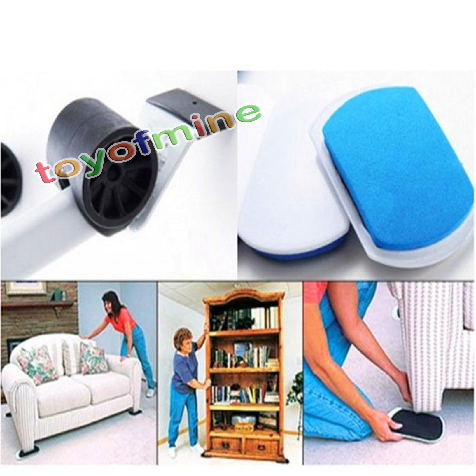 Heavy furniture moving system lifter tool with 4 slide glider pad sofa easy move ebay - Easy to move furniture ...