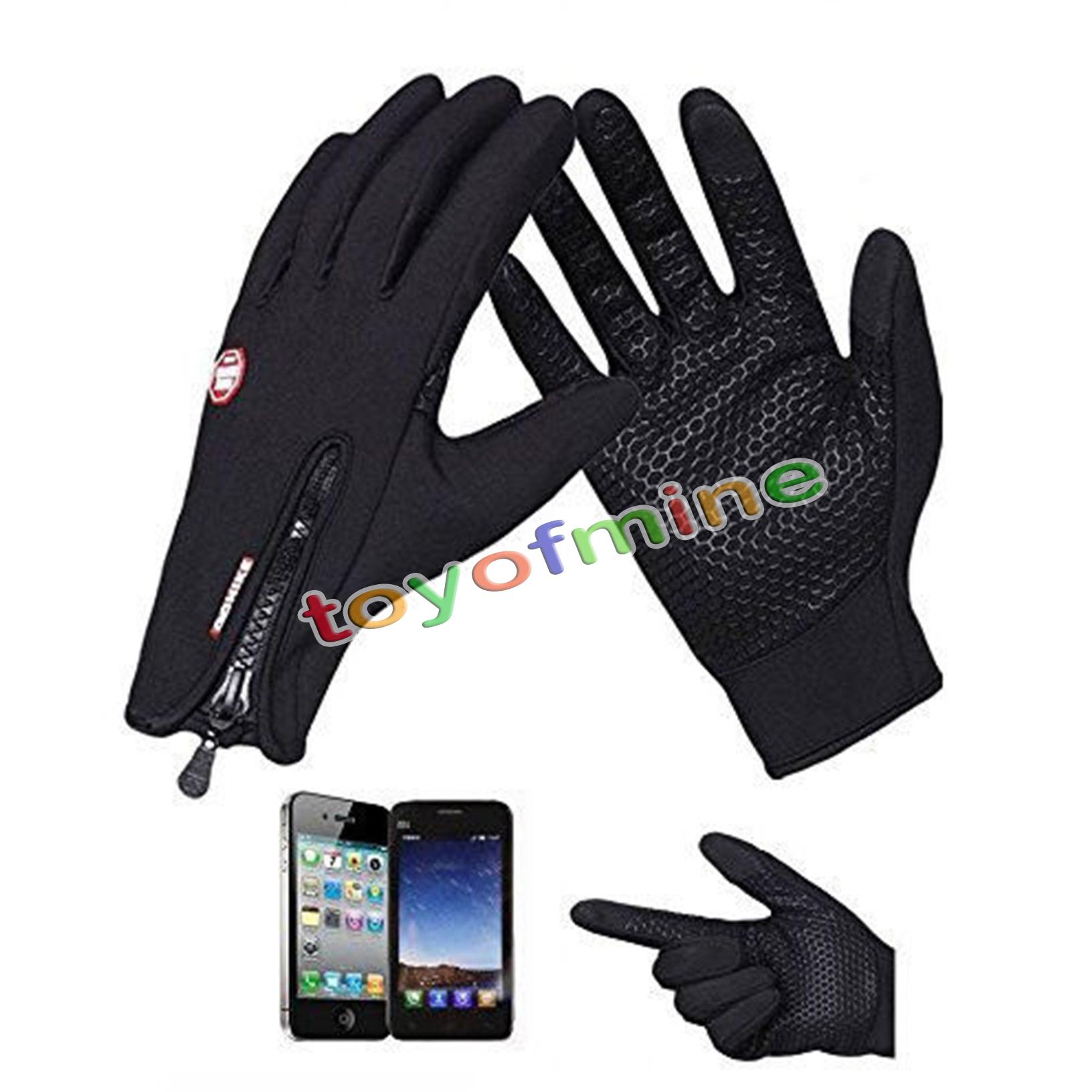 Touch Screen Gloves Windproof Waterproof Outdoor Sport Men