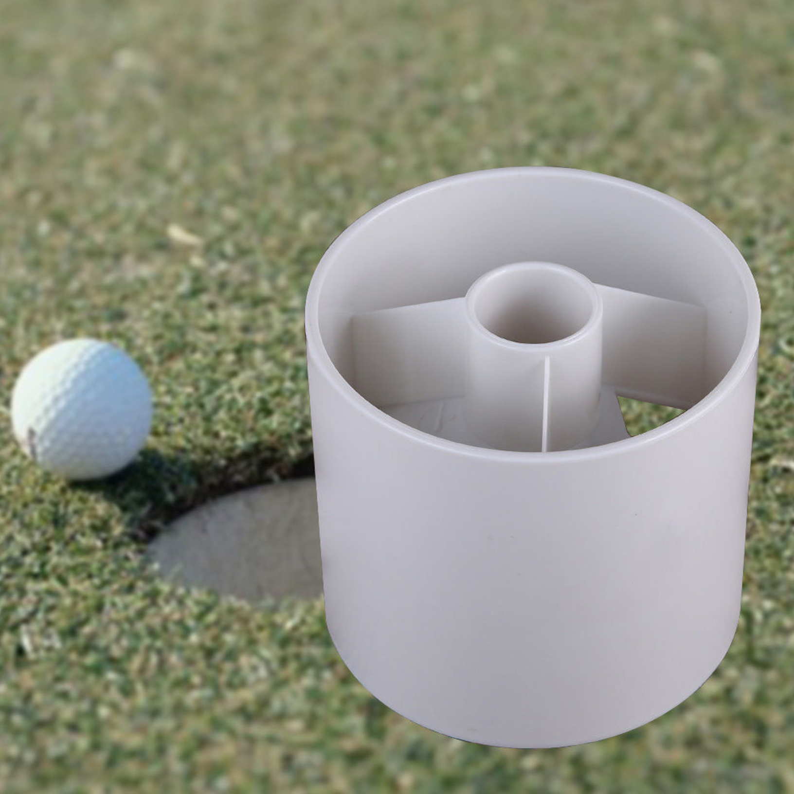 new backyard practice golf hole pole cup putting green flagstick