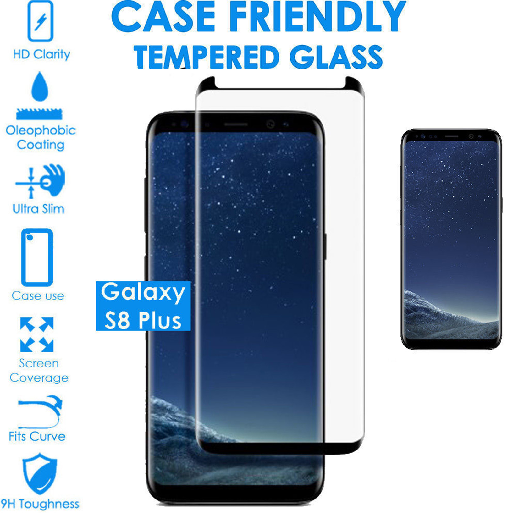 Details about For Samsung Galaxy S8 S8 Plus 3D Curved Reduced version Tempered Glass