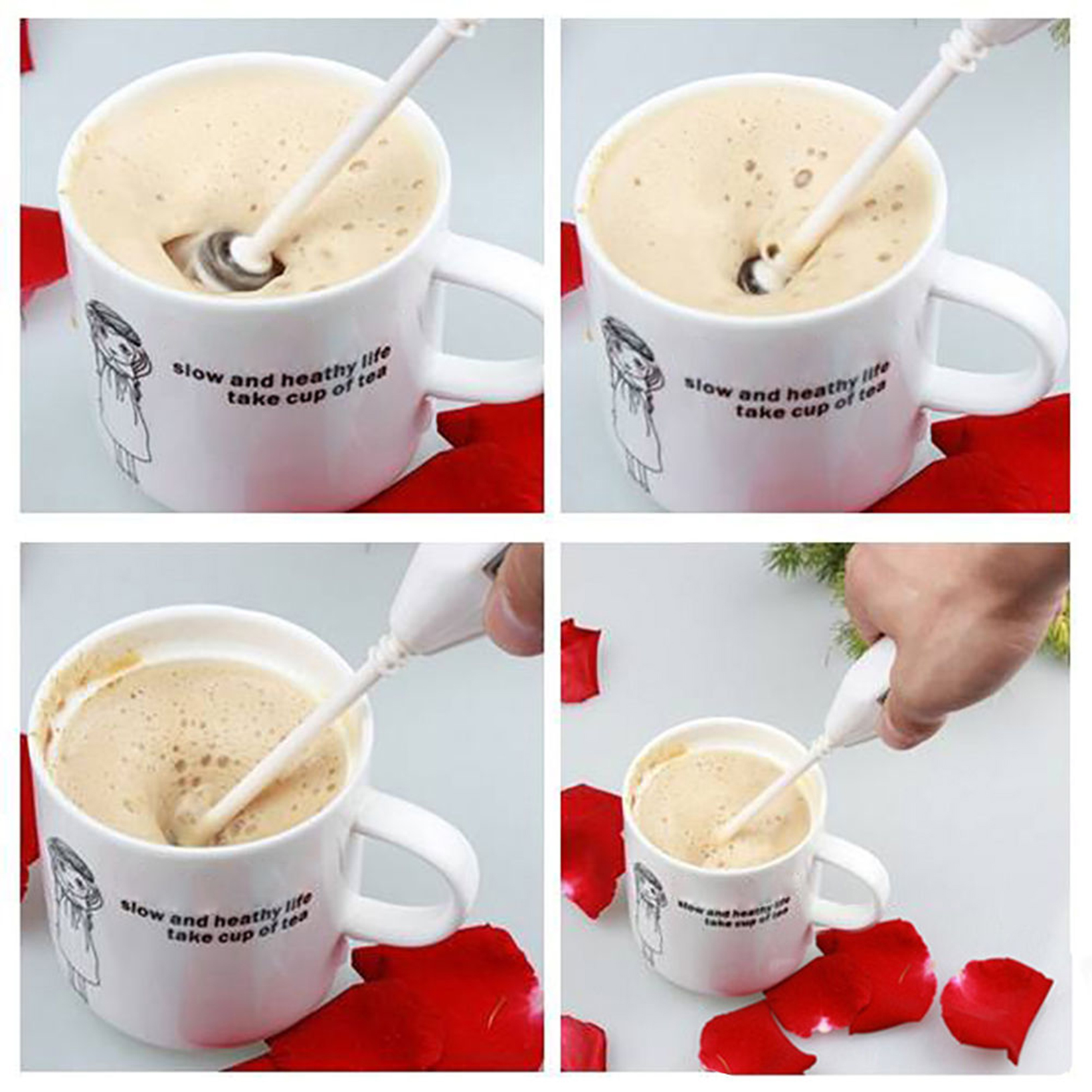 how to use a manual milk frother