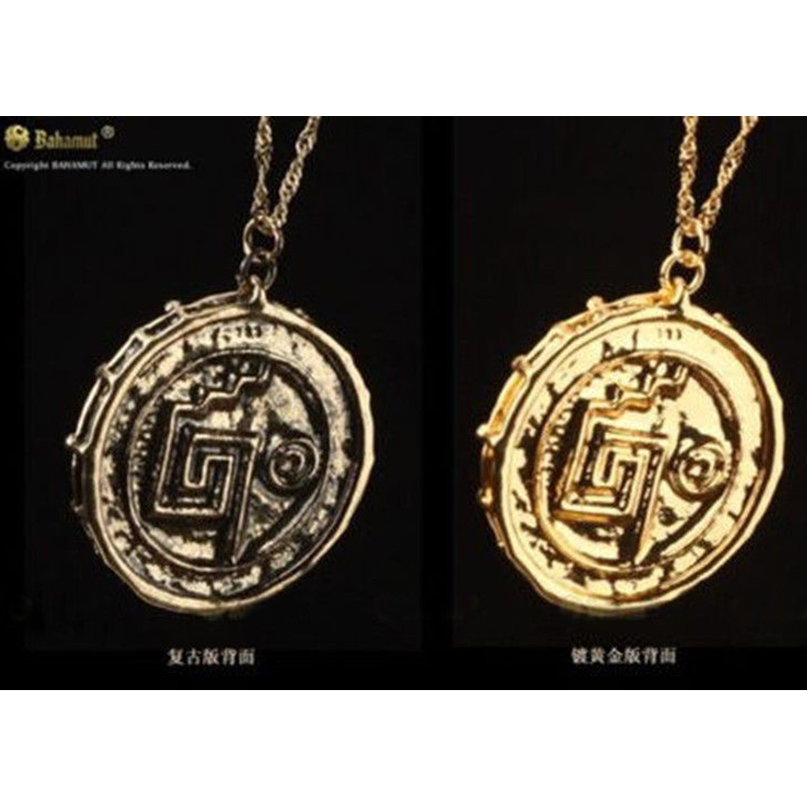 small charm charms circle for coin gold l necklace medallion bamboo