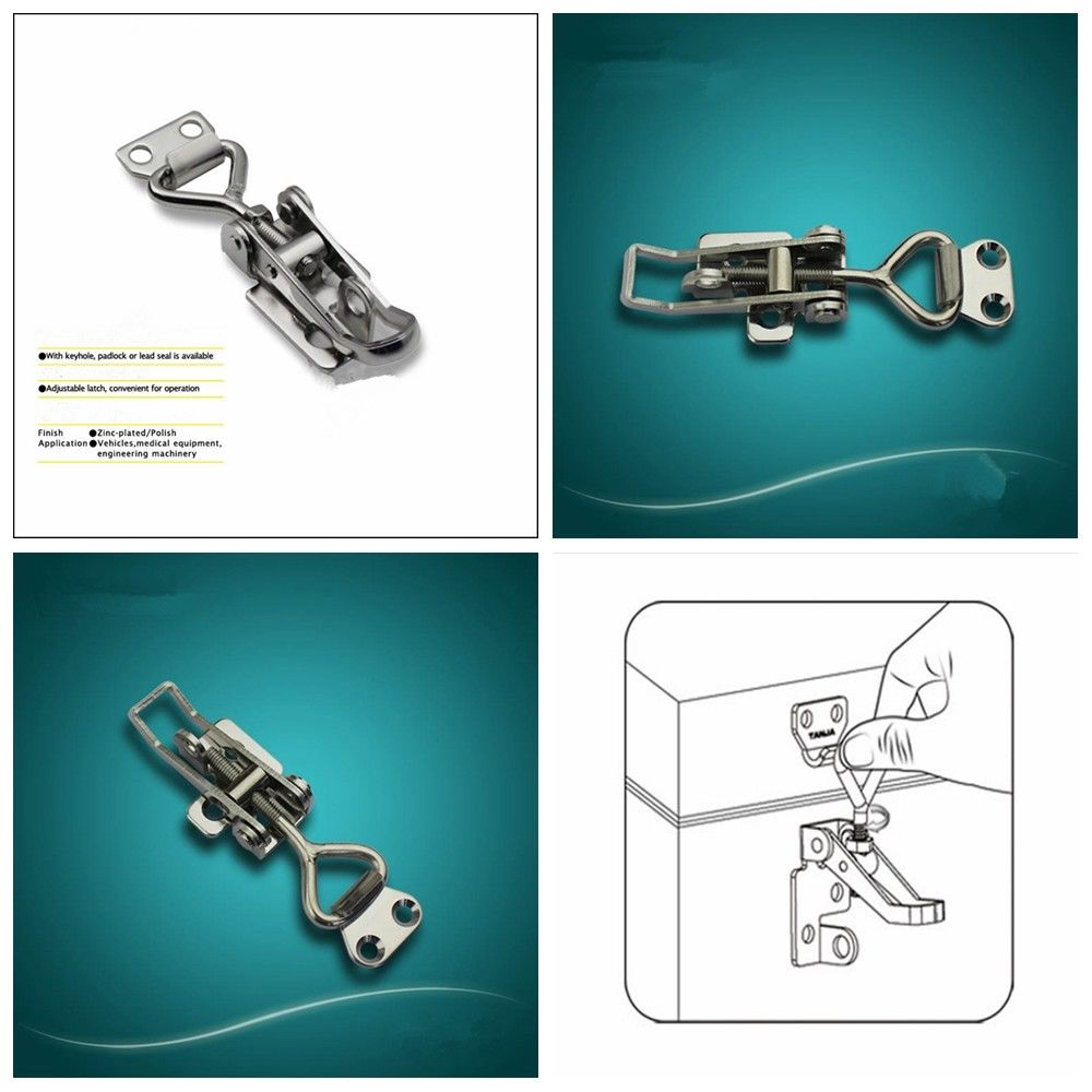 Stainless Steel Toggle Latch 304 Lockable Over Centre For Toolbox Fastener Lock