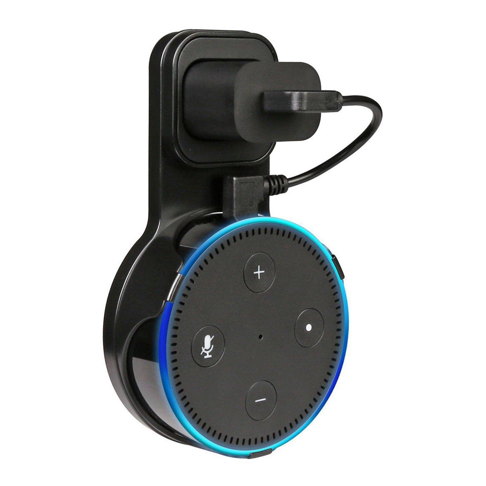 Smart Speakers Wall Mount Hanger Holder Stands Bracket for Echo Dot 2 2nd Black