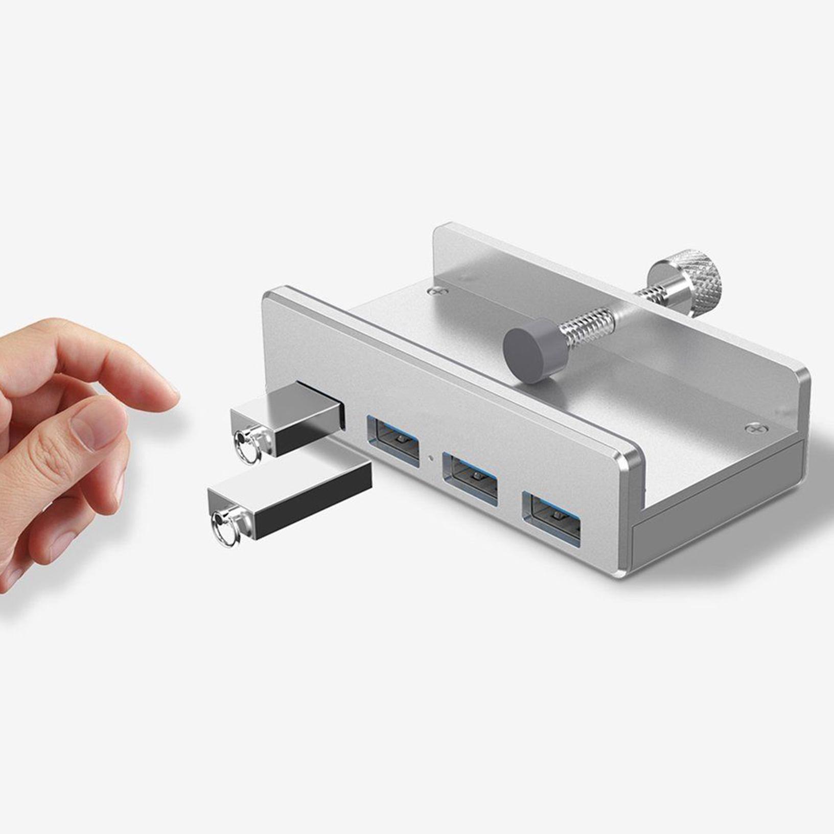 ORICO 4 Ports USB 3.0 Tisch HUB 5Gbps Monitor Tisch Klemme für Apple iMac Laptop | eBay