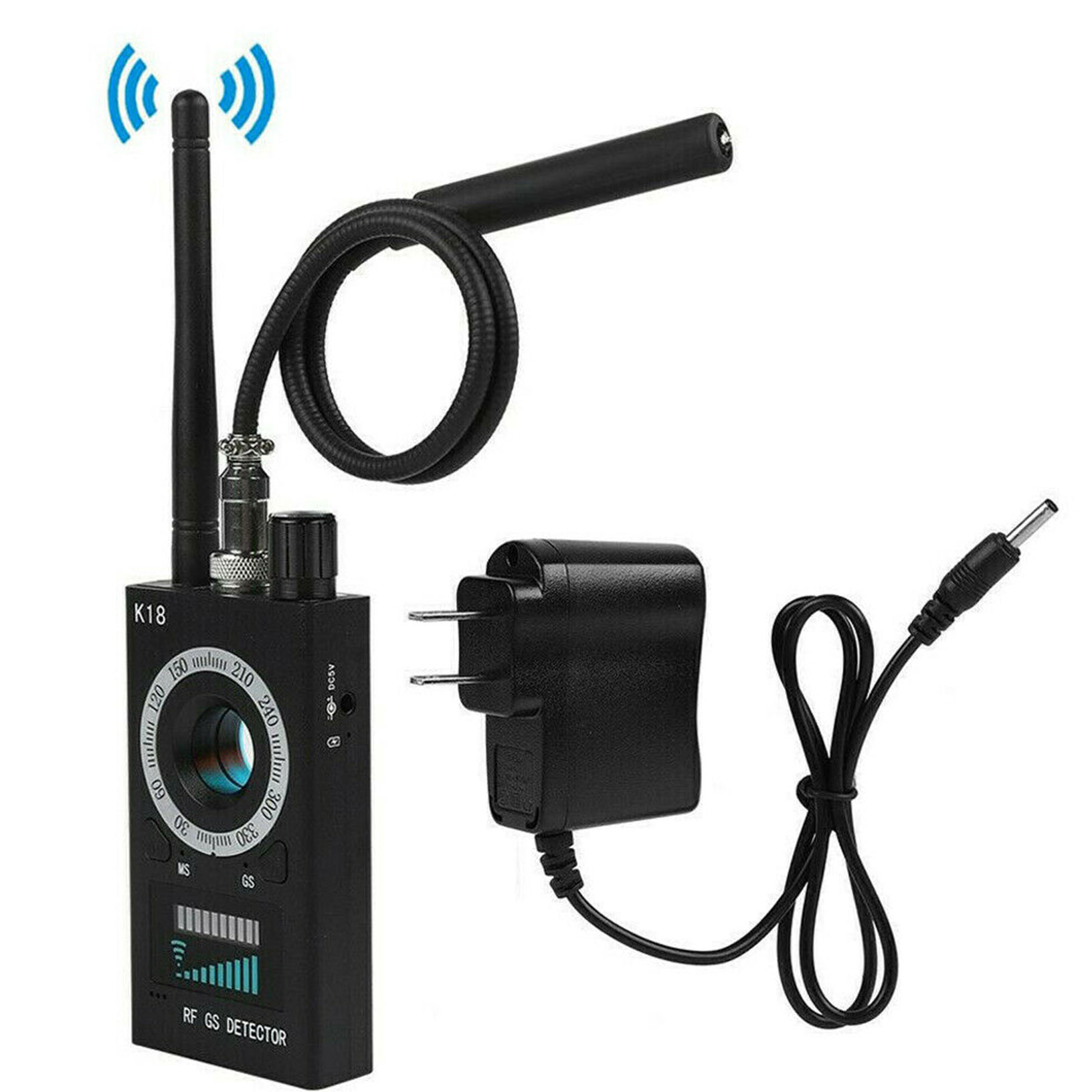Details about RF Signal detector Anti-spy Detector Camera K18 GSM Audio Bug  Finder GPS Scan