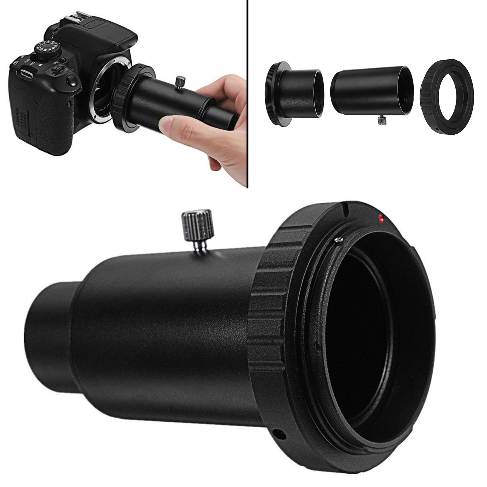 Aluminum T2 Adapter Telescope Extension Tube 1.25 inch Telescope Mount Adapter Thread T-Ring for Pentax PK-Mount Lens Camera