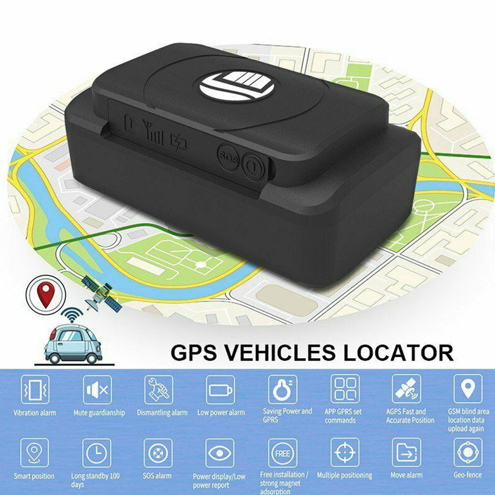 Hidden Gps Tracker For Car >> Details About Portable Magnetic Hidden Gps Tracker For Car Vehicle Tracking Device Real Time