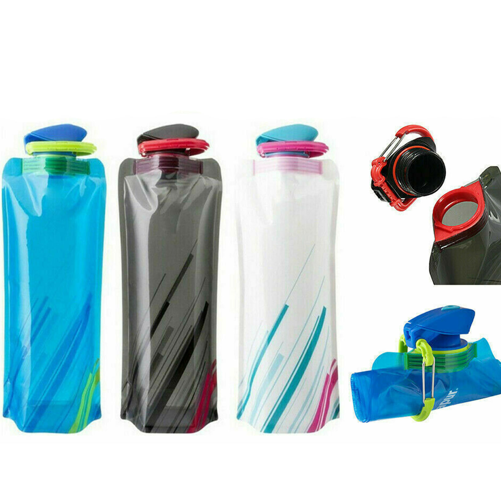 700mL Water Bottle Outdoor Sports Travel Portable Collapsible Folding Kettle Cup