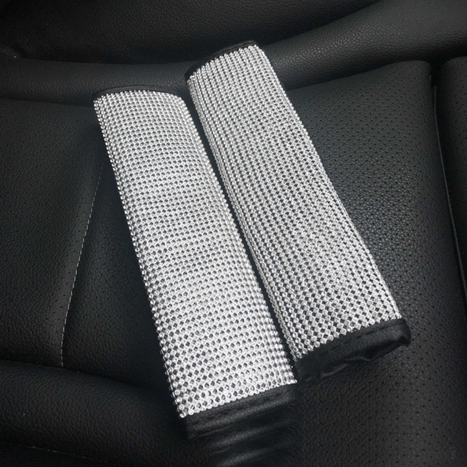 for Honda Insight Car Seat Belt Shoulder Strap Protect Pads Cover No Slip No Rubbing Soft Comfort 2Pcs White