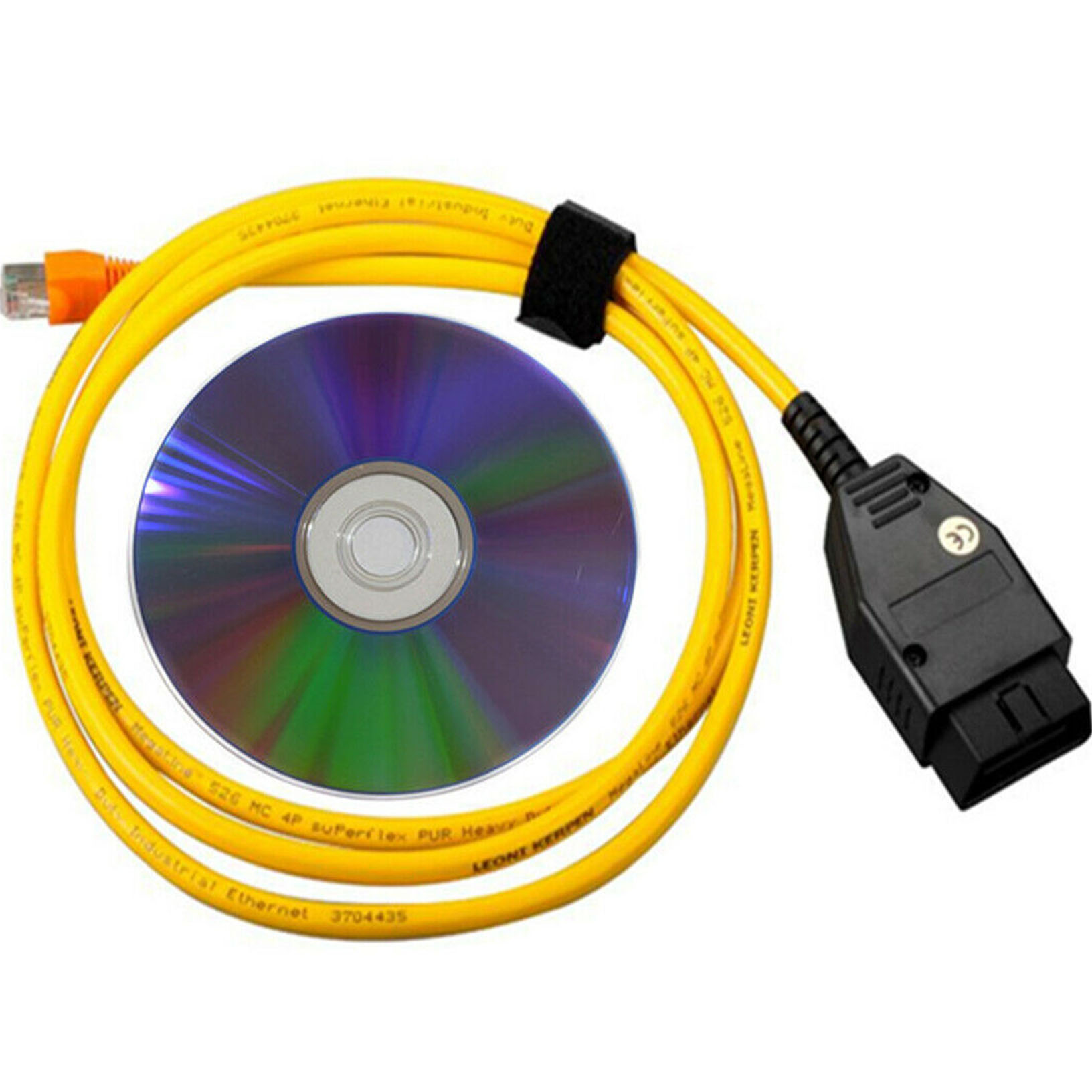 New Ethernet Enet RJ45 Yellow OBD OBDII OBD2 E-SYS ICOM Coding F-series Cable-HR-Tool/®