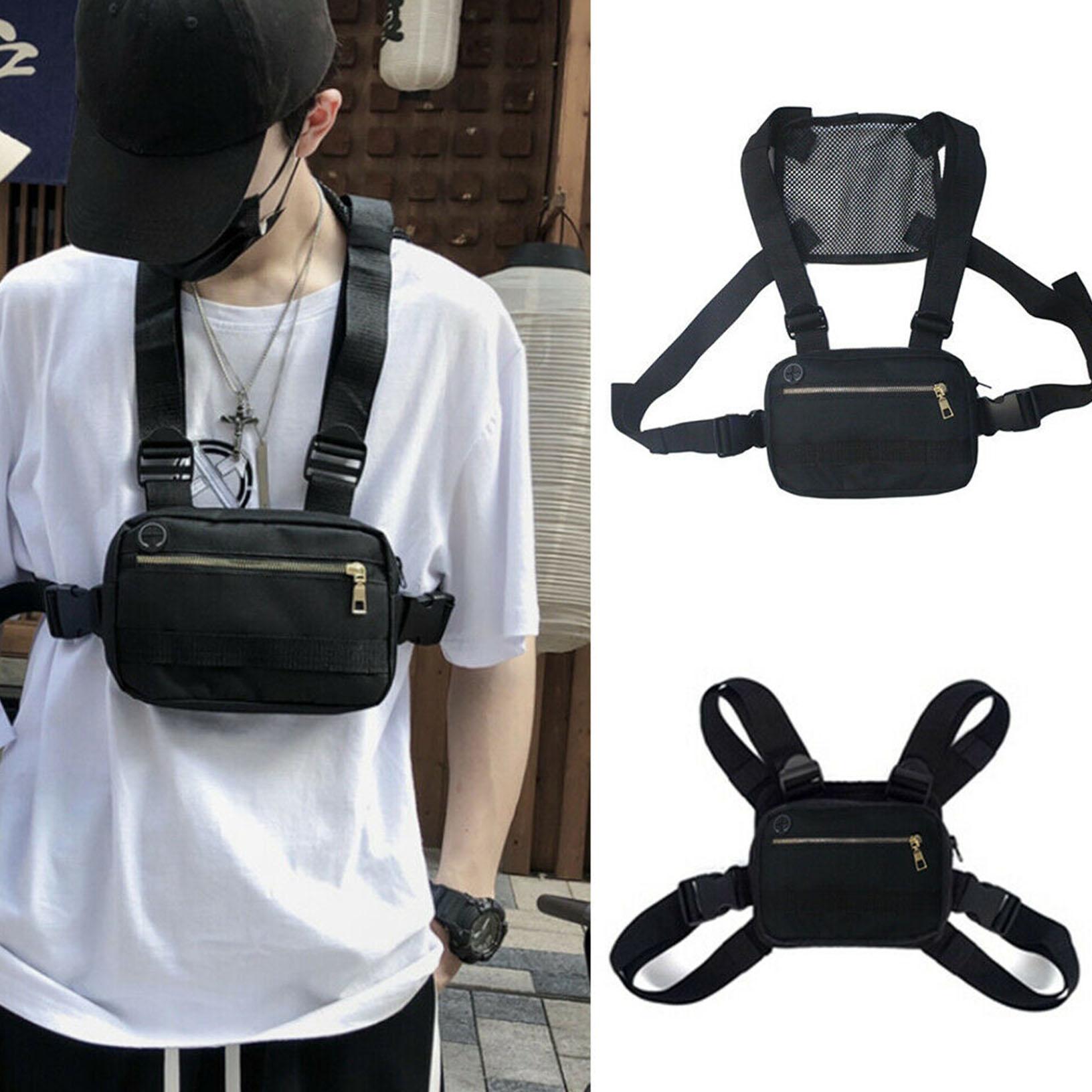 Adjustable Tactical Chest Rig Bag Vest Men Hip Hop Shoulder Bag Women Packs