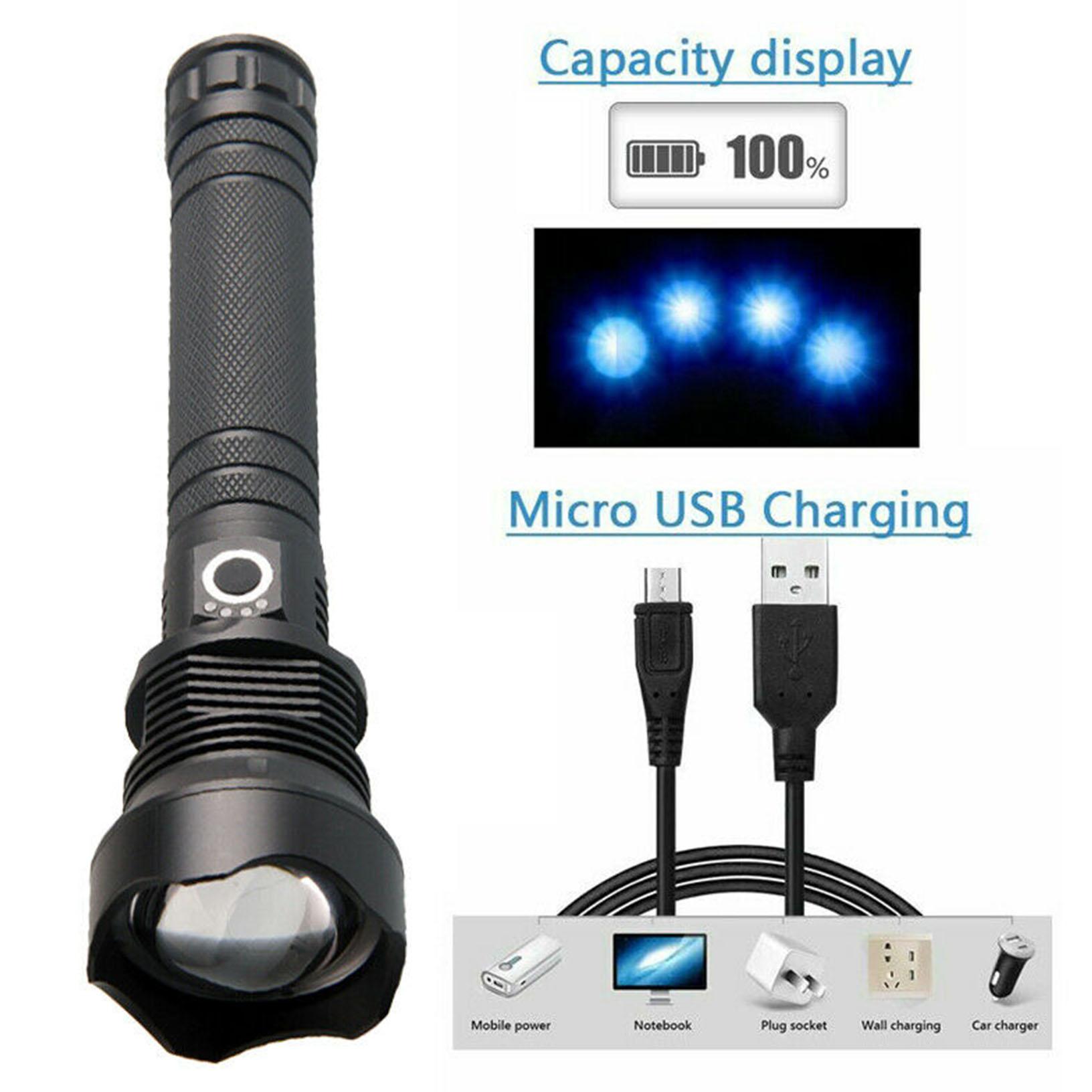 90000 lumens xhp70.2 plus puissant led lampe de poche usb Zoom torche xhp70