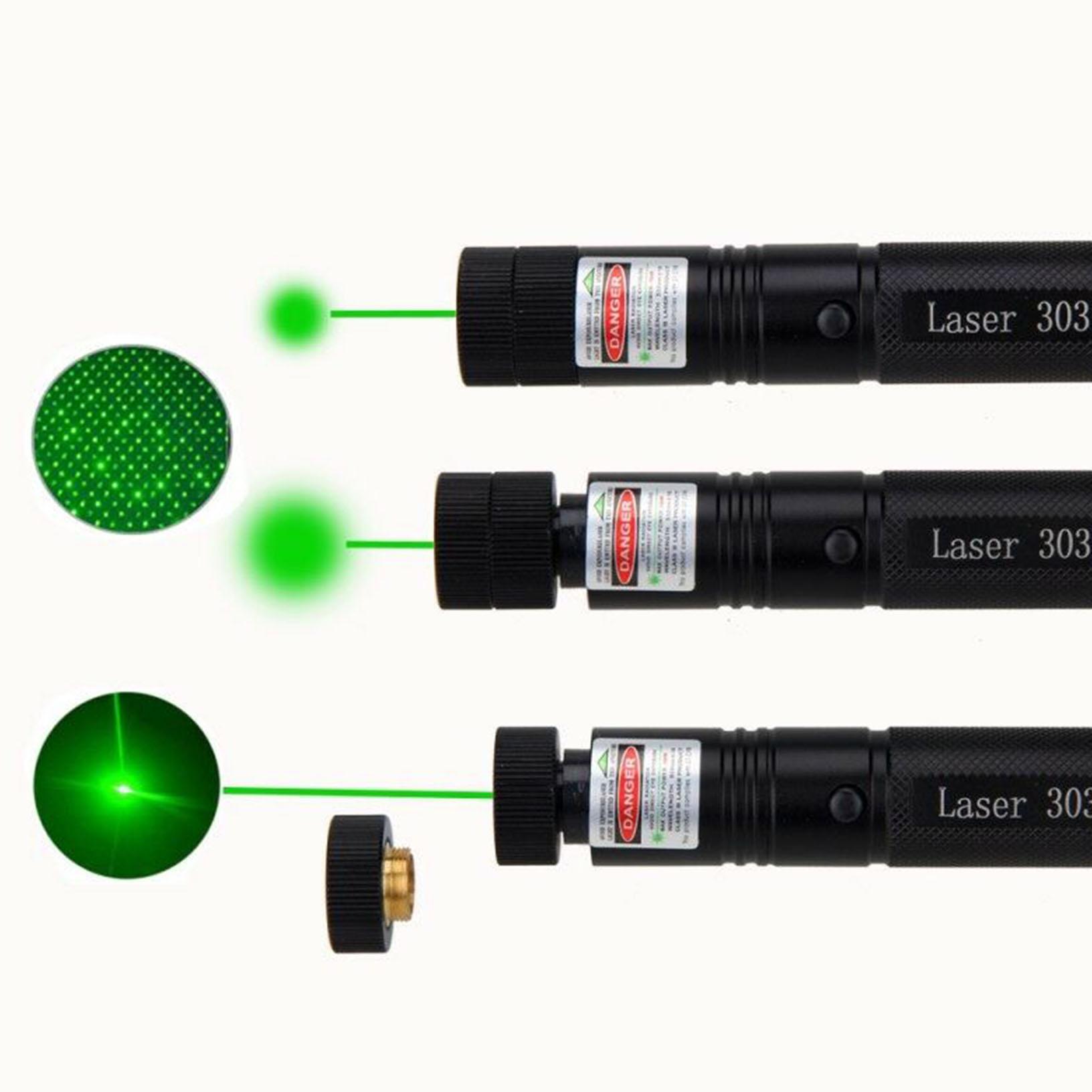 Ladegerät Laserpointer 303 Grün 1MW 532NM Strahl Sichtbar Beam Light 18650