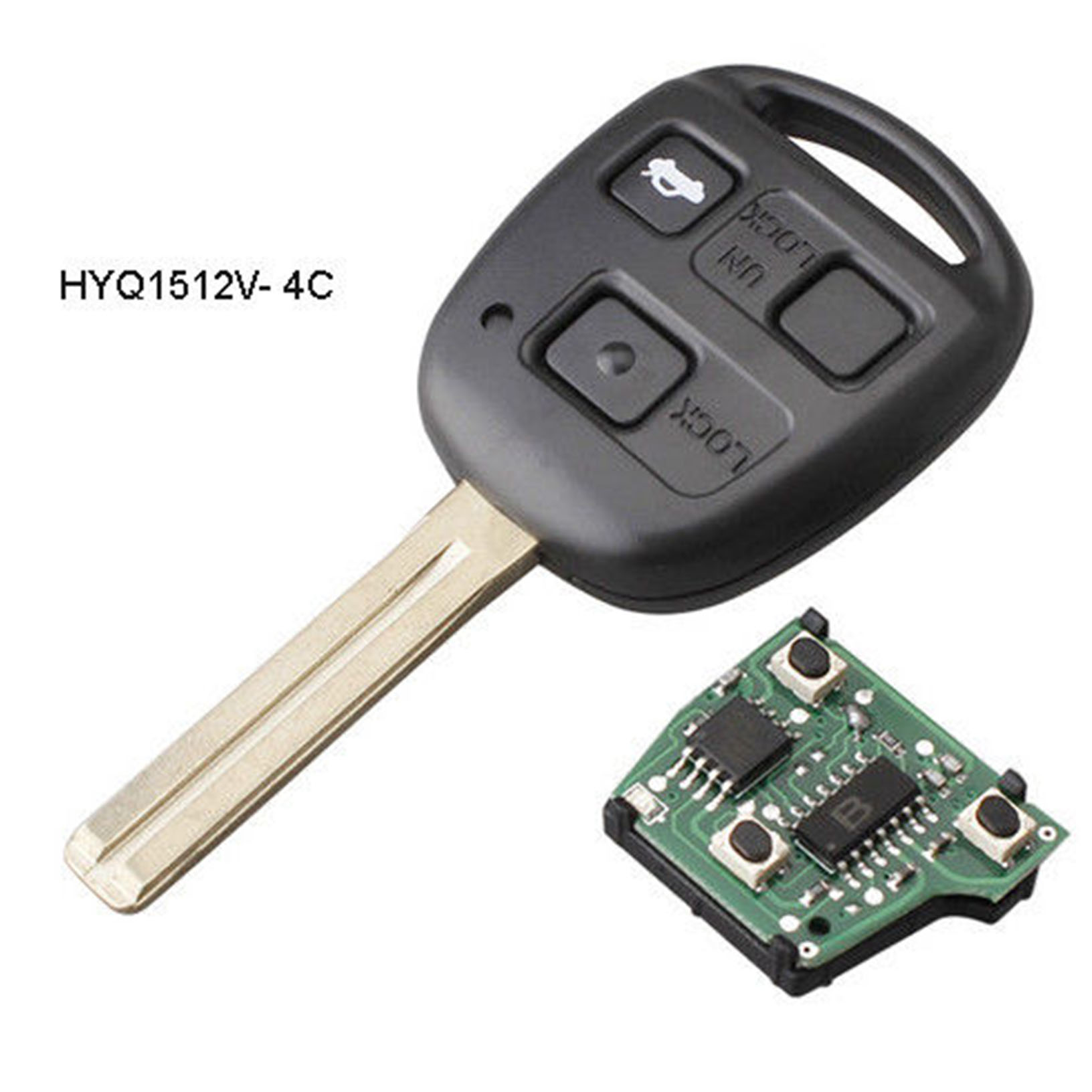 Car Key Fob Keyless Entry Remote fits Lexus 2001-2002 LX470 HYQ1512V